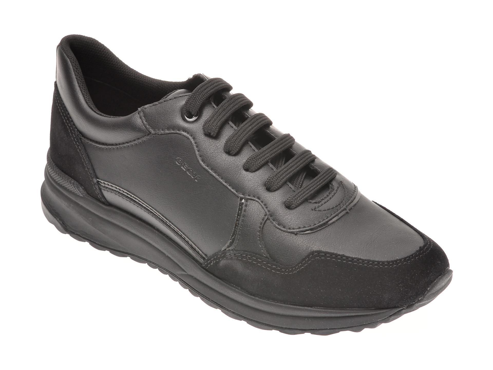 Pantofi GEOX negri, D042SA, din piele ecologica