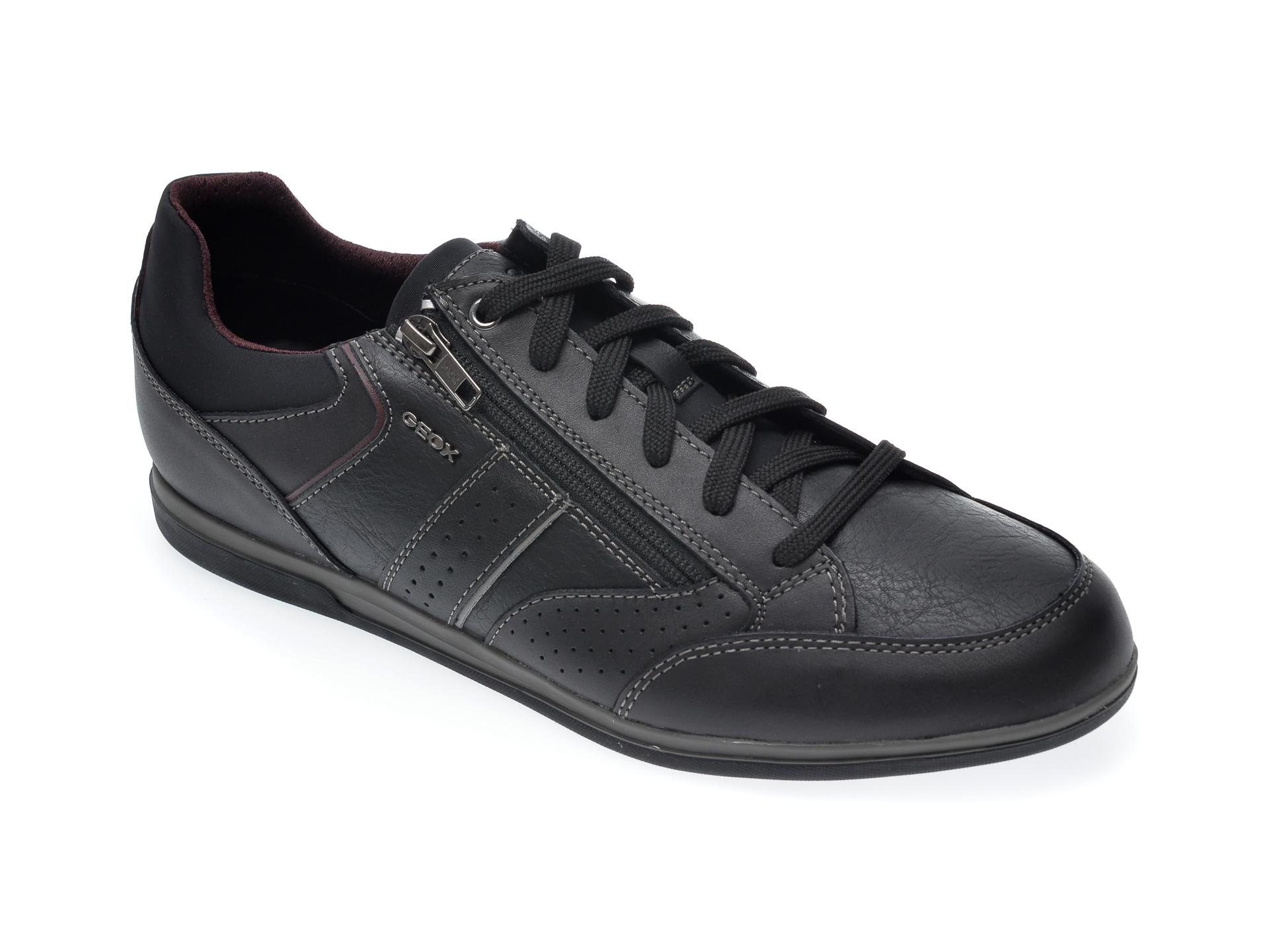 Pantofi GEOX negri, U024GA, din piele ecologica