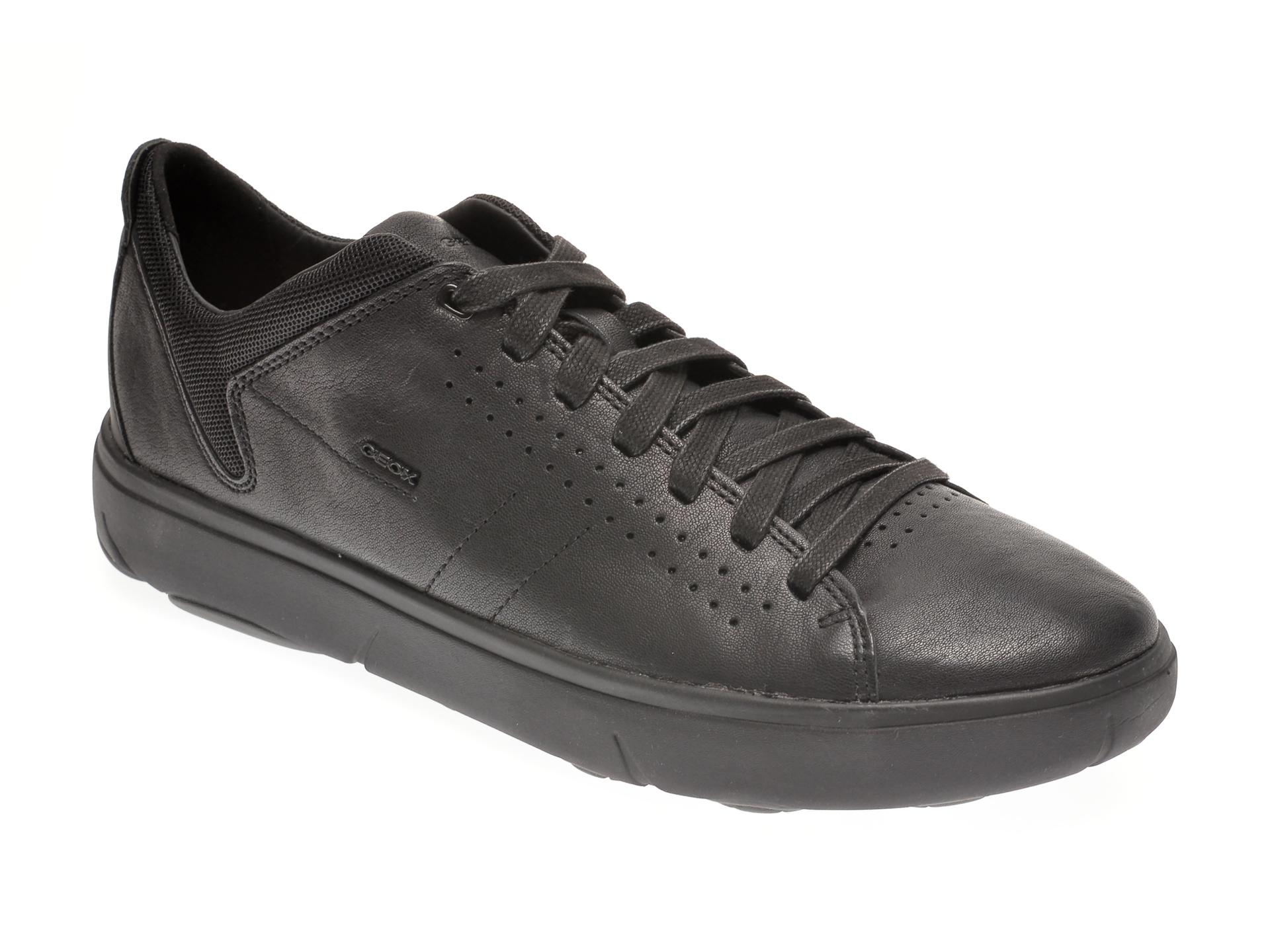 Pantofi GEOX negri, U948FA, din piele naturala
