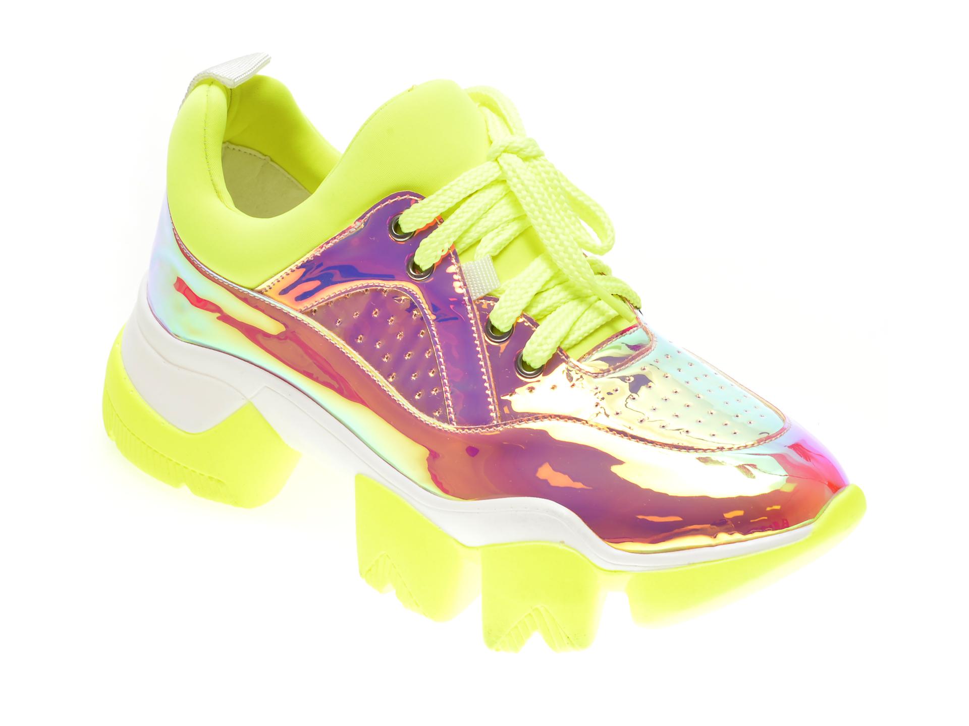 Pantofi GRYXX galbeni, M0992, din combinatii imagine
