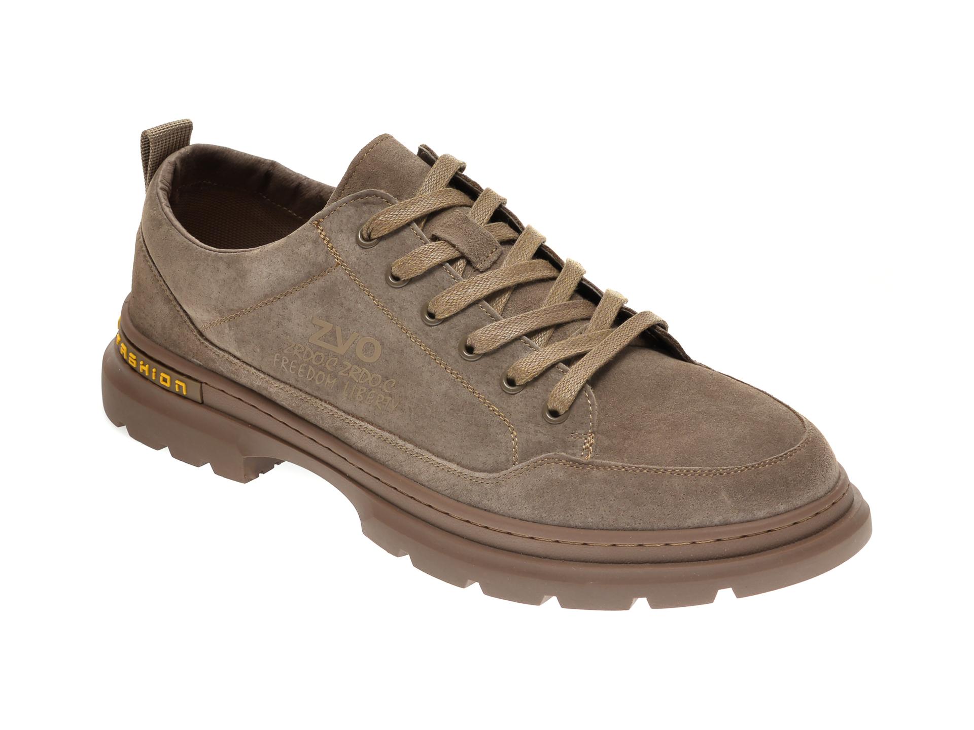 Pantofi GRYXX maro, 81159, din nabuc imagine