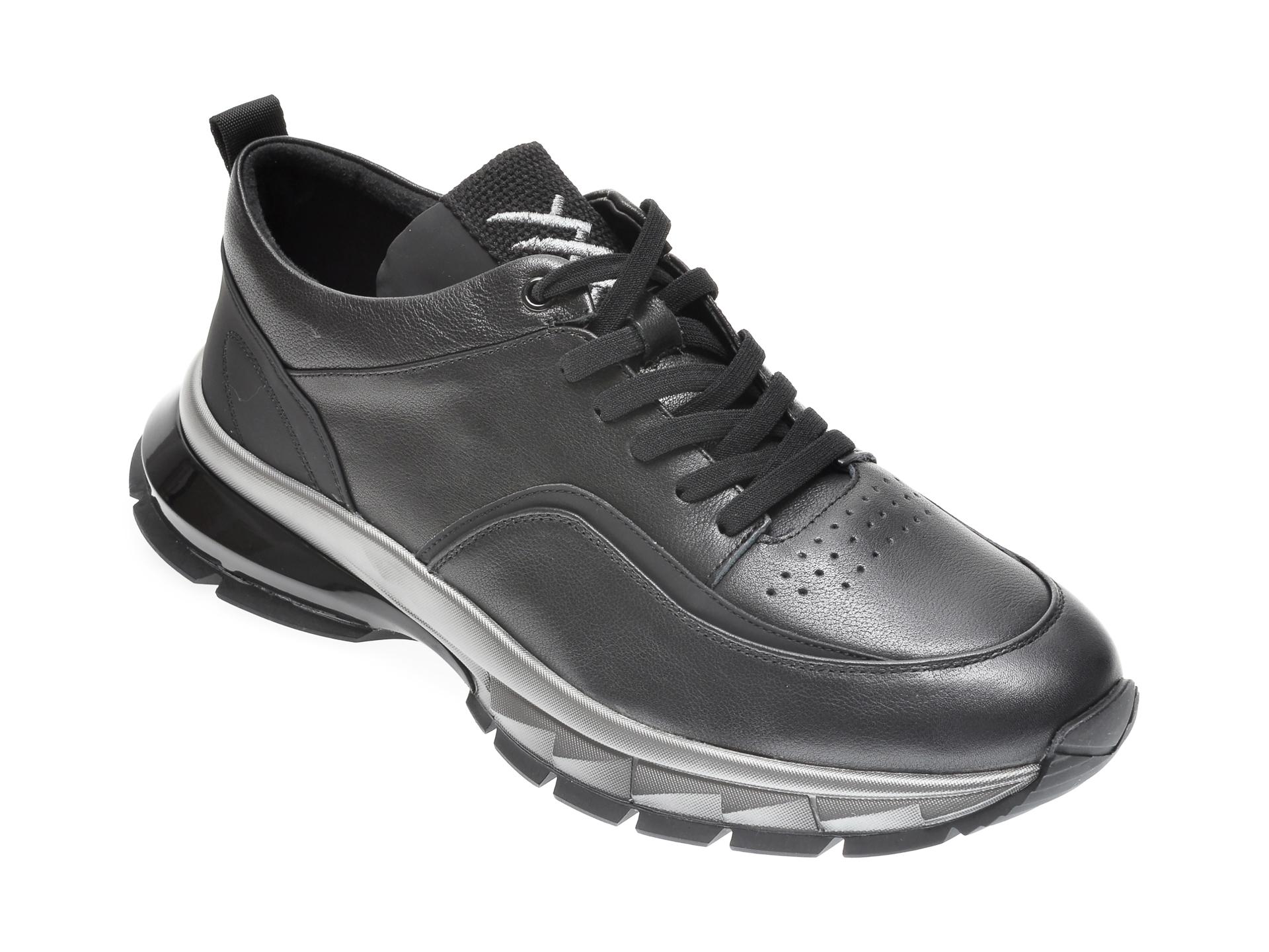 Pantofi GRYXX negri, 25770, din piele naturala imagine