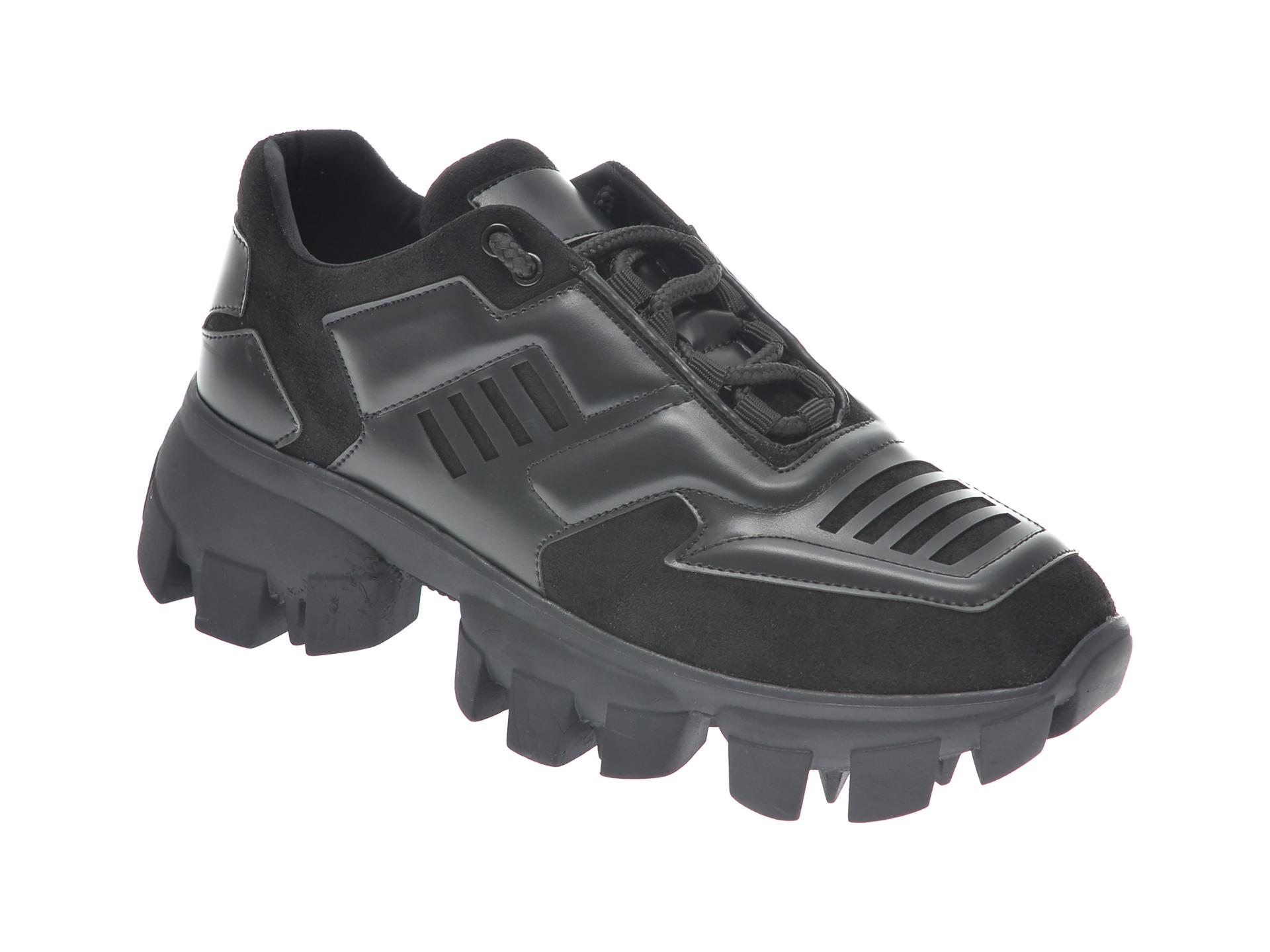 Pantofi GRYXX negri, MO1252, din piele ecologica imagine