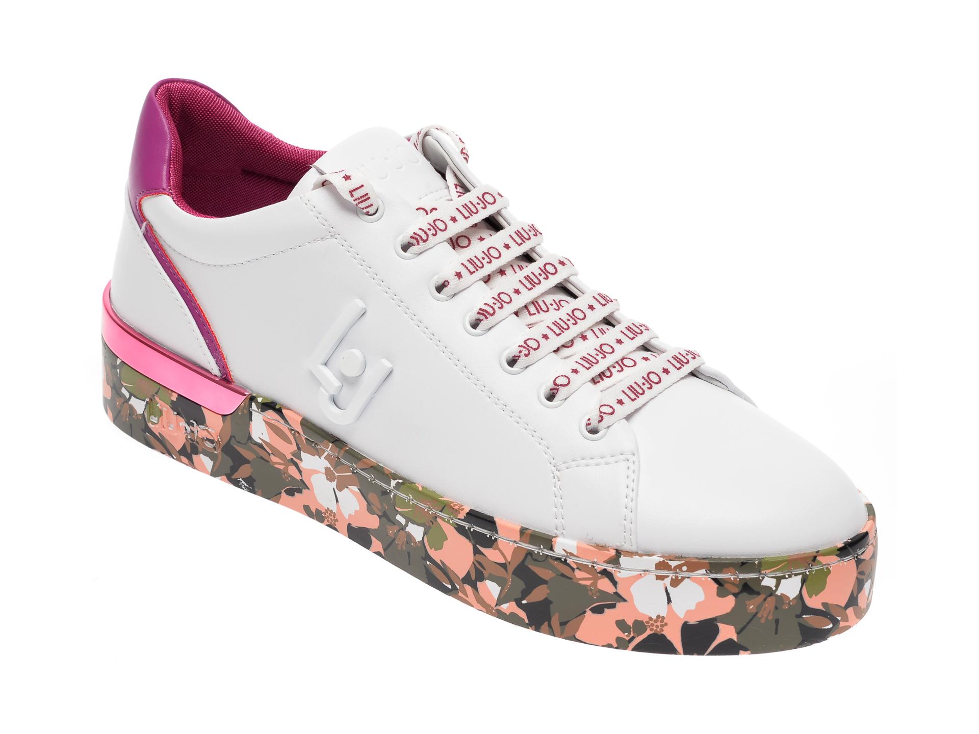 Pantofi LIU JO albi, SILV01, din piele ecologica