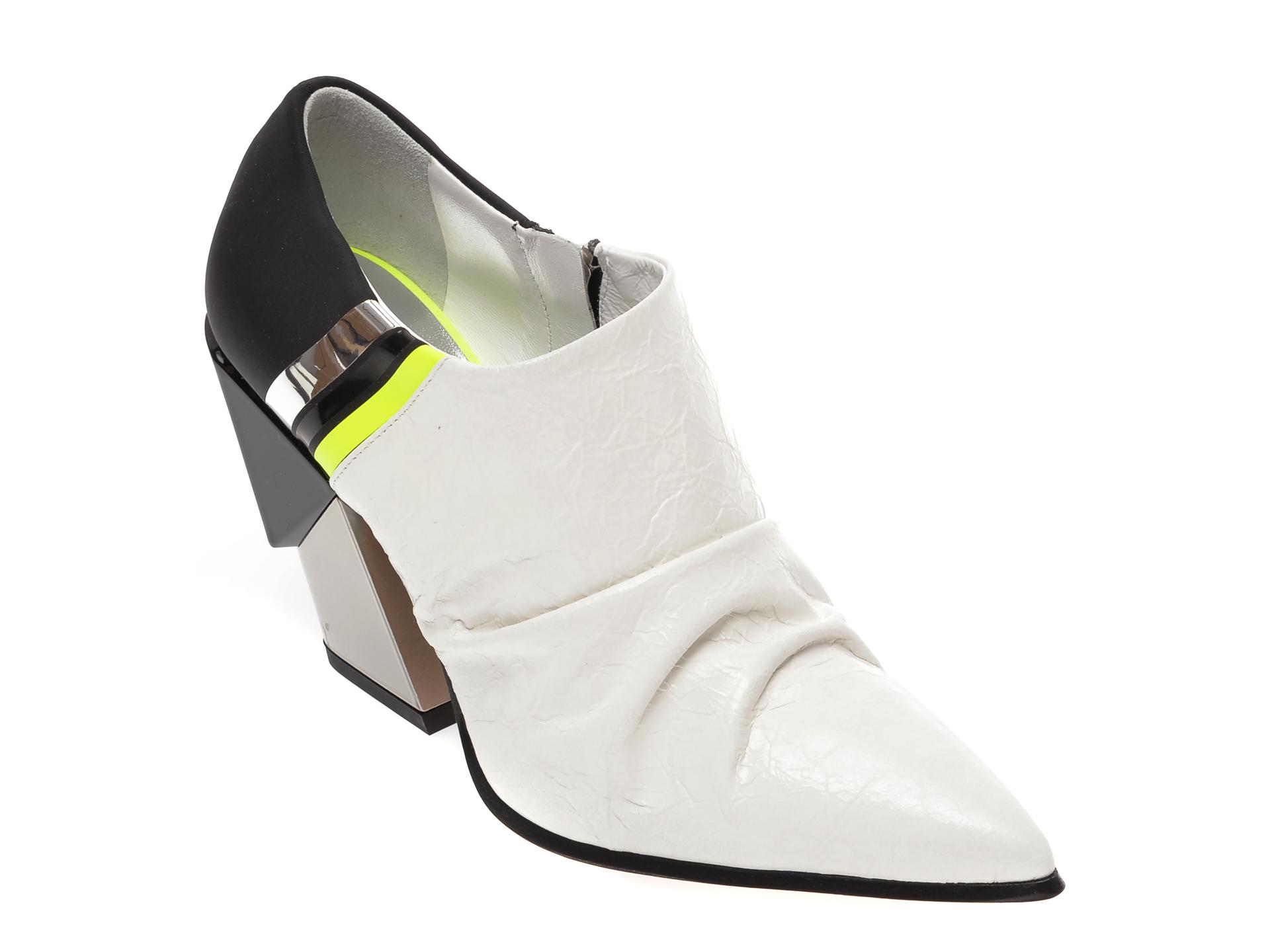 Pantofi Loriblu Albi, A603, Din Piele Naturala Si Material Textil