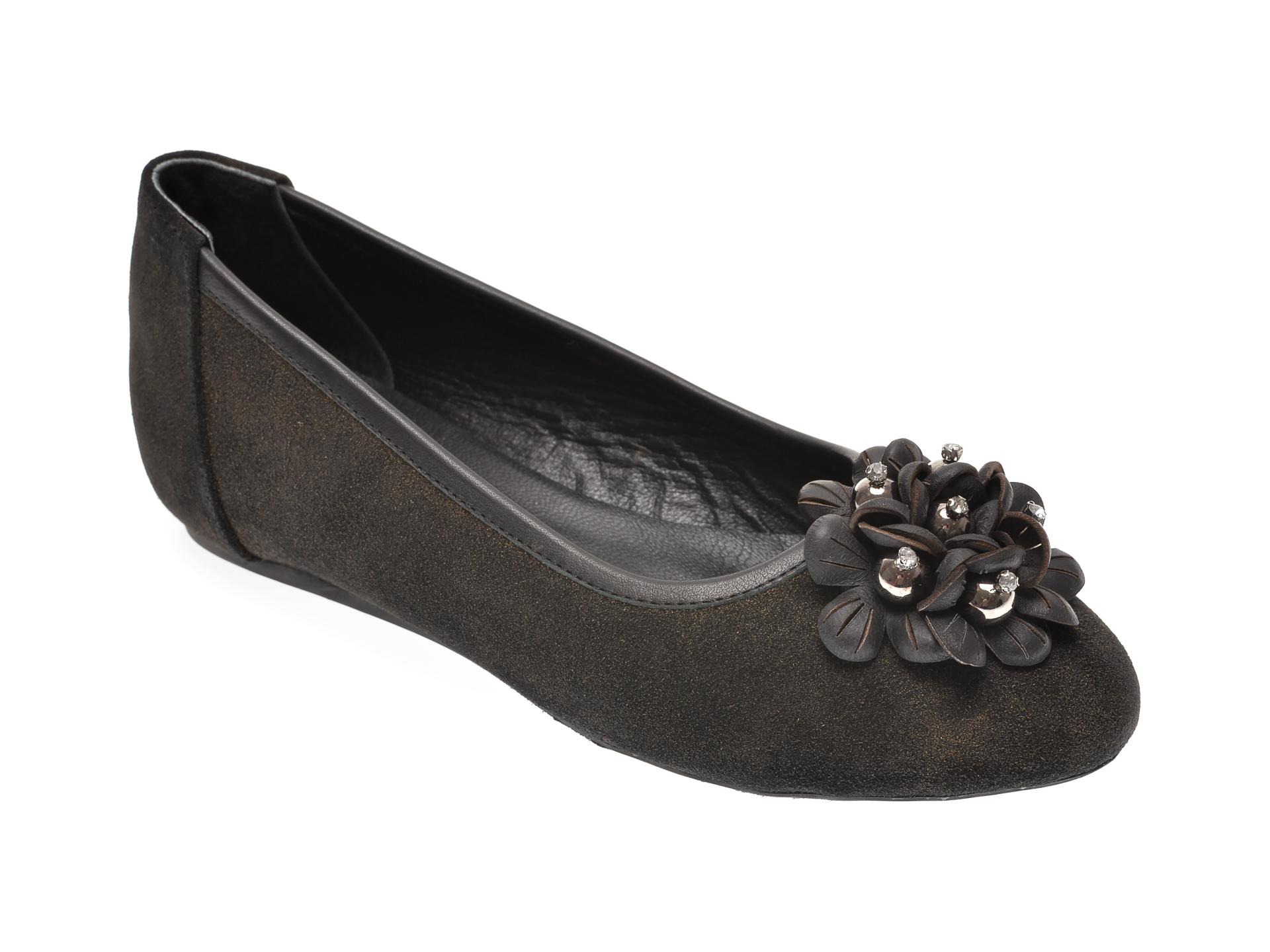 Pantofi MESSIMODA kaki, 18K1420, din piele intoarsa imagine