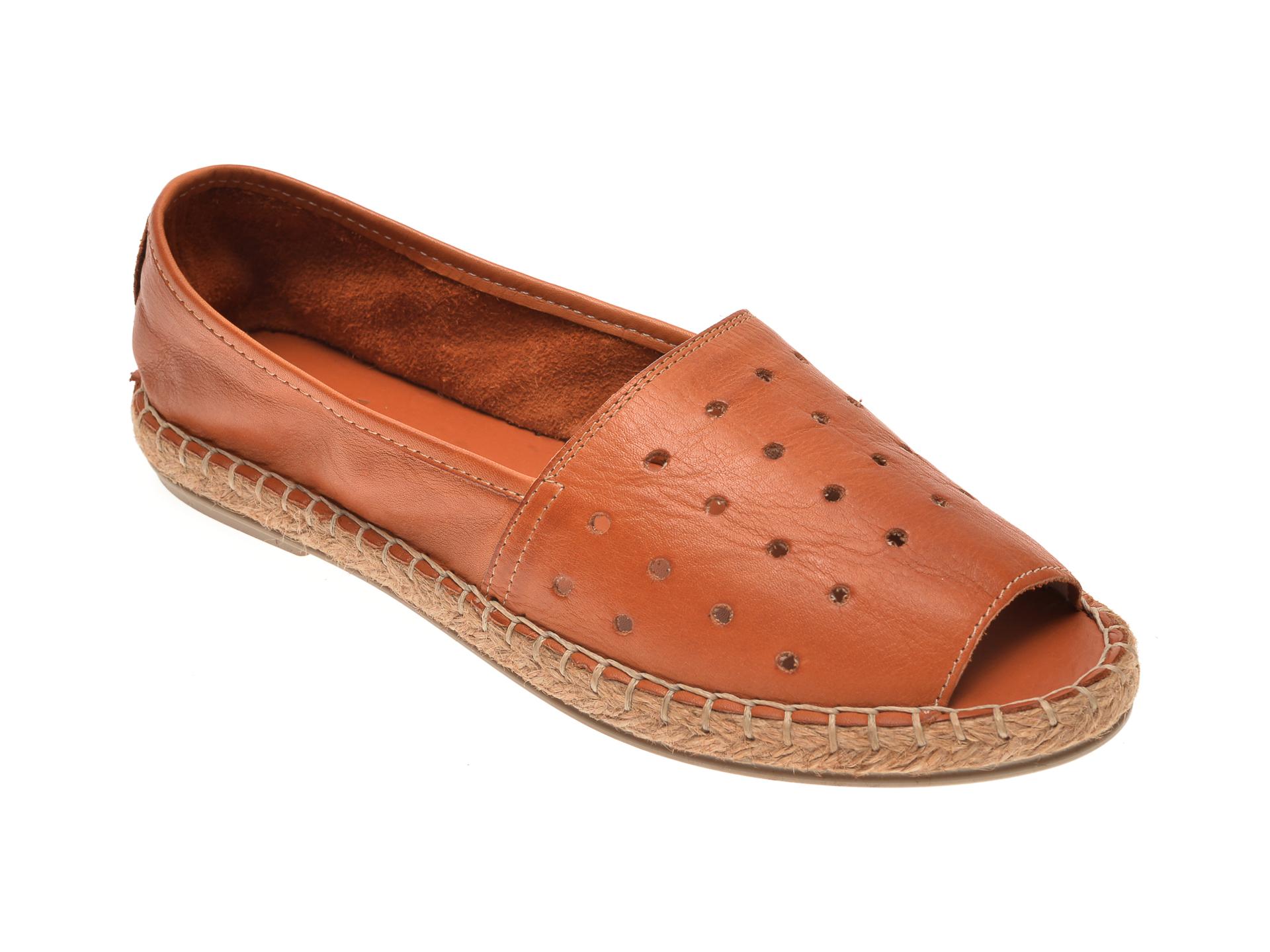 Pantofi MESSIMODA maro, 18Y1155, din piele naturala imagine