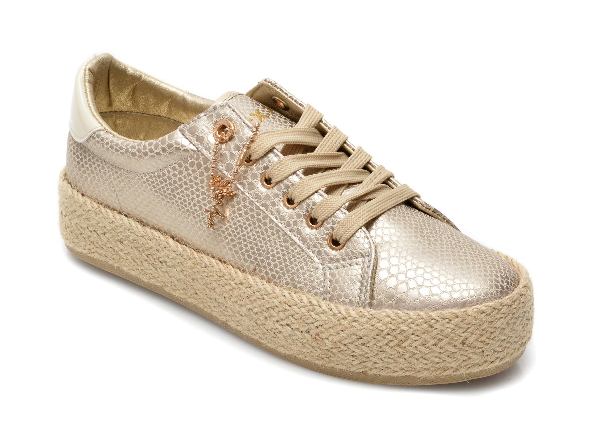 Pantofi MEXX aurii, SE0040, din piele ecologica