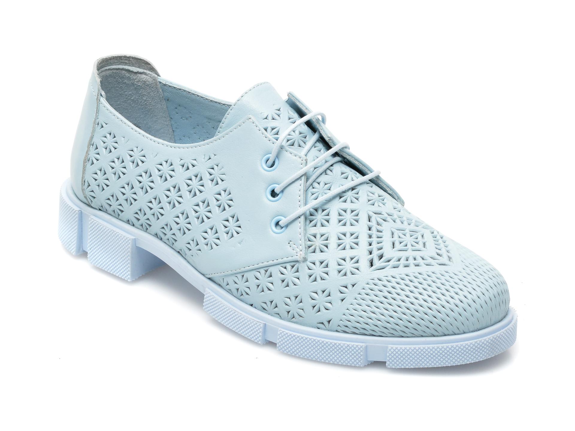 Pantofi MOLLY BESSA albastri, MN106, din piele naturala