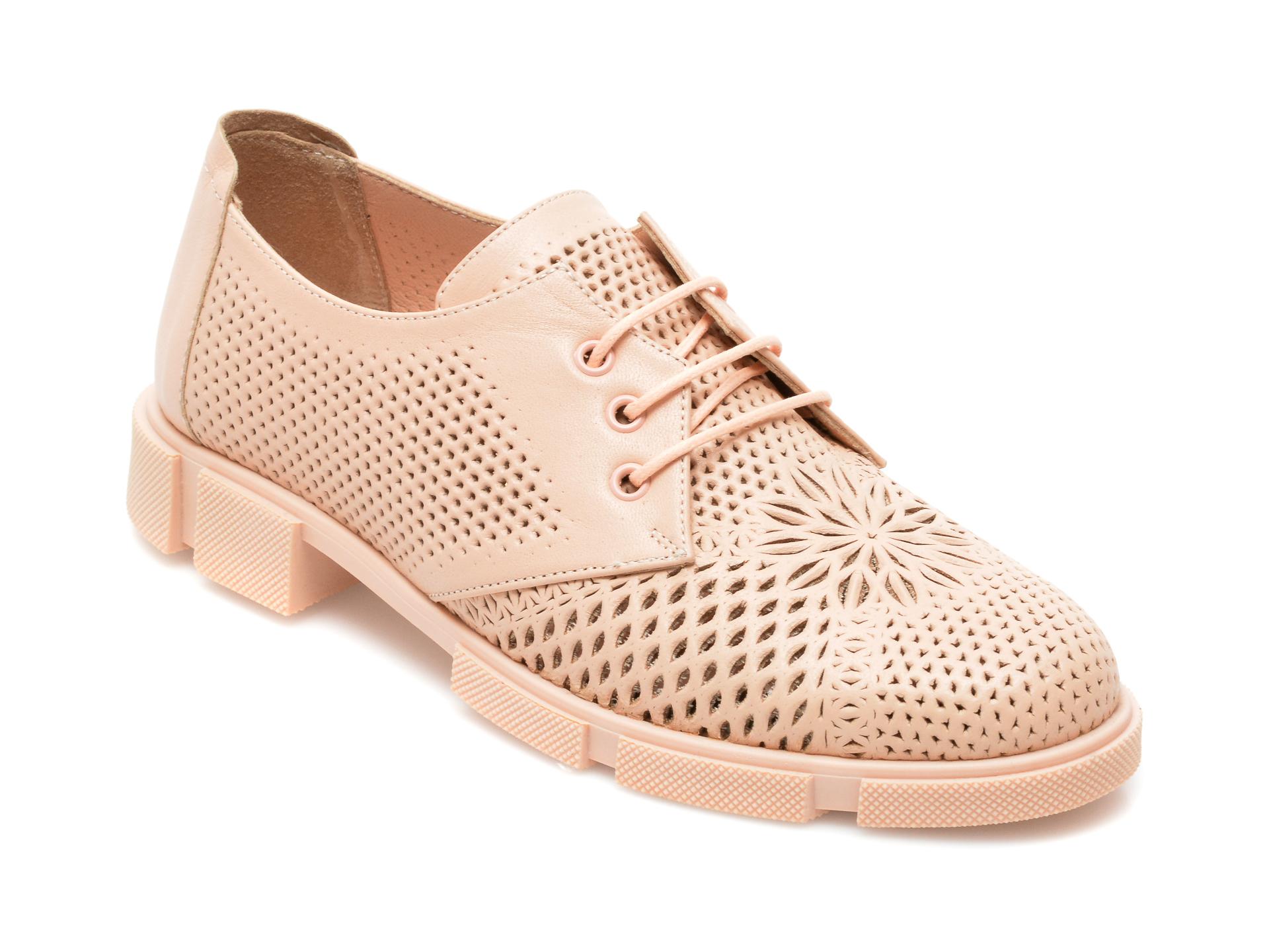 Pantofi MOLLY BESSA nude, MN106, din piele naturala
