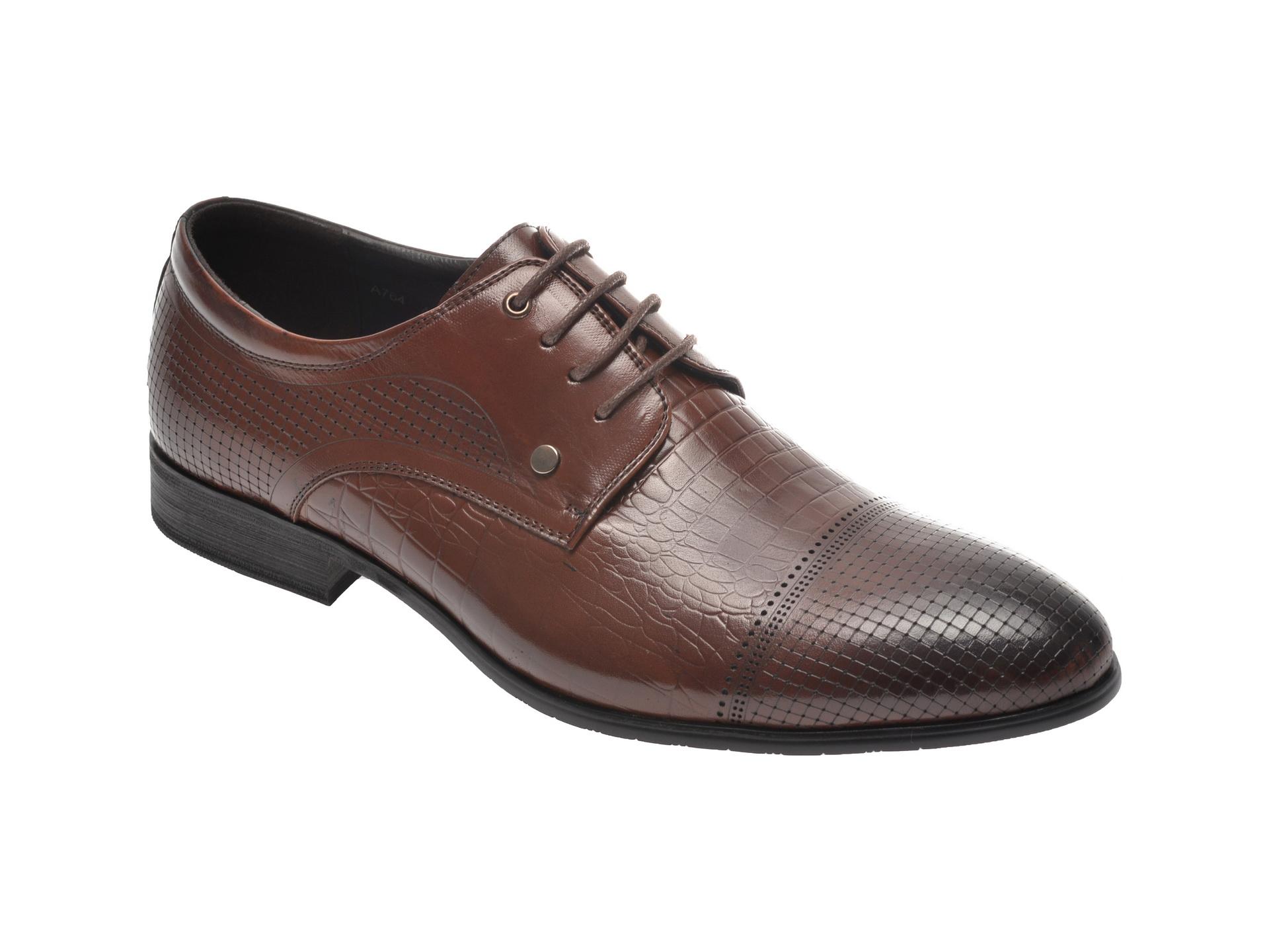 Pantofi Otter Maro, A764, Din Piele Naturala