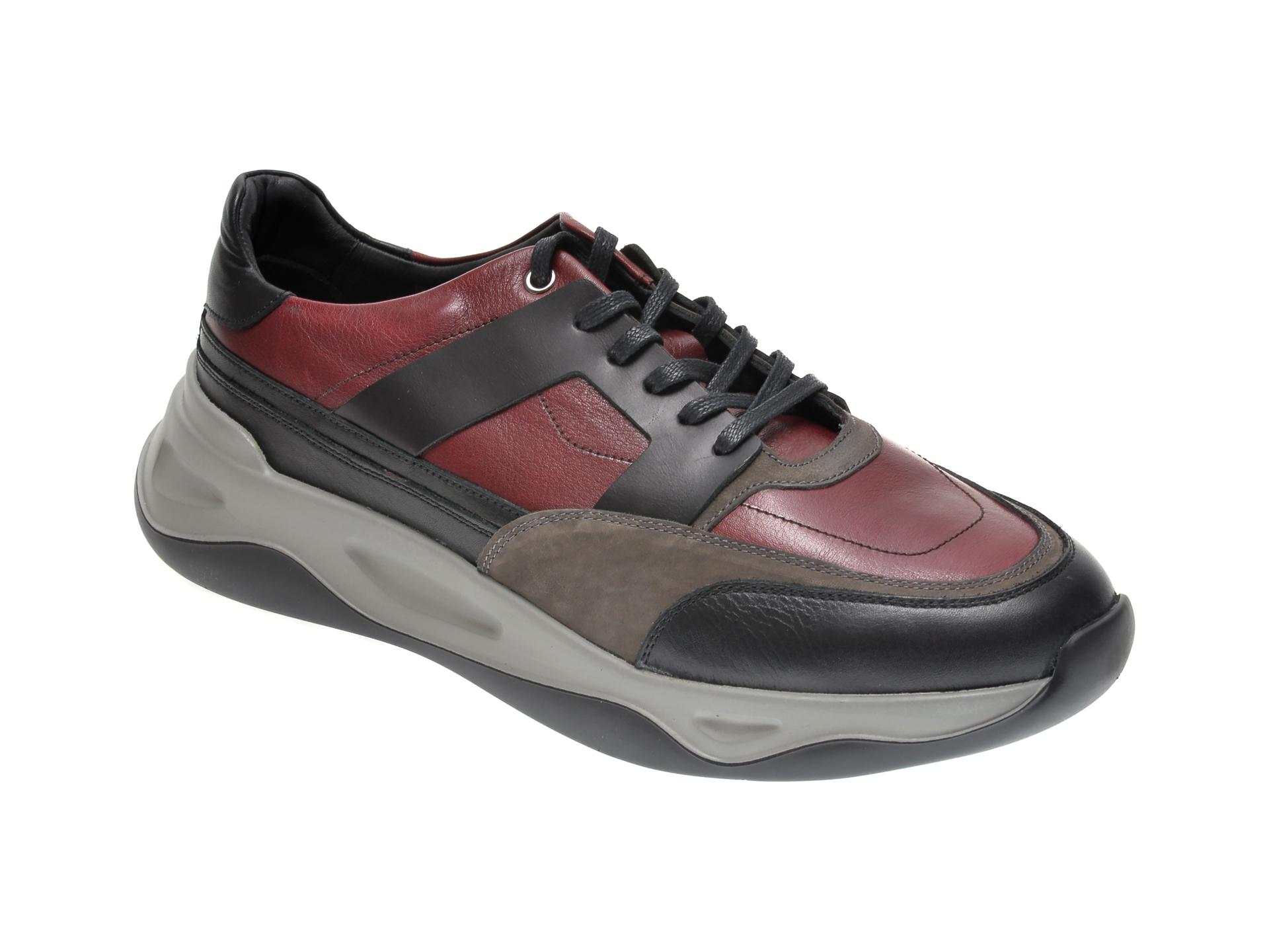 Pantofi OTTER negri, 616, din piele naturala imagine
