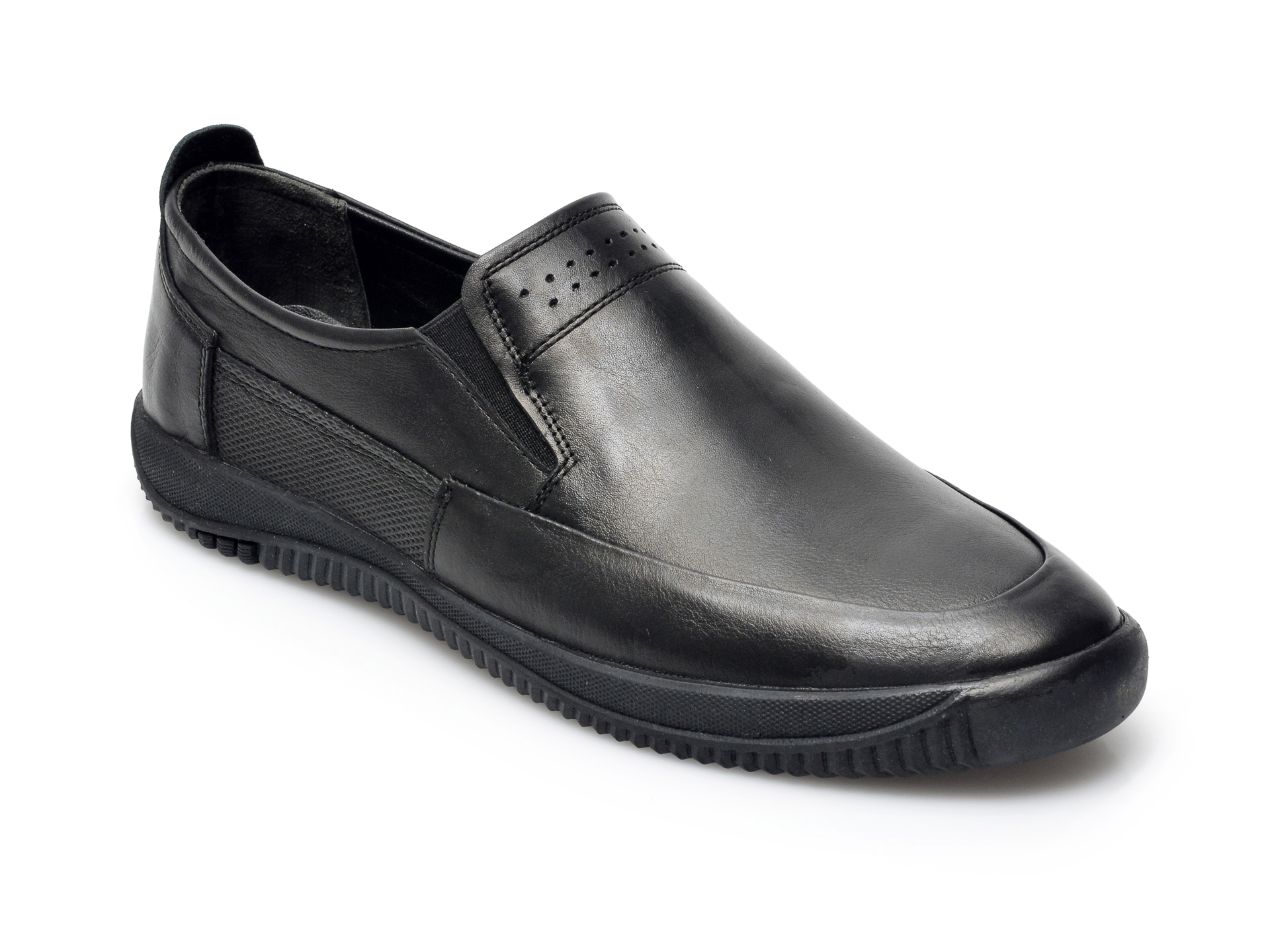 Pantofi OTTER negri, M5540, din piele naturala