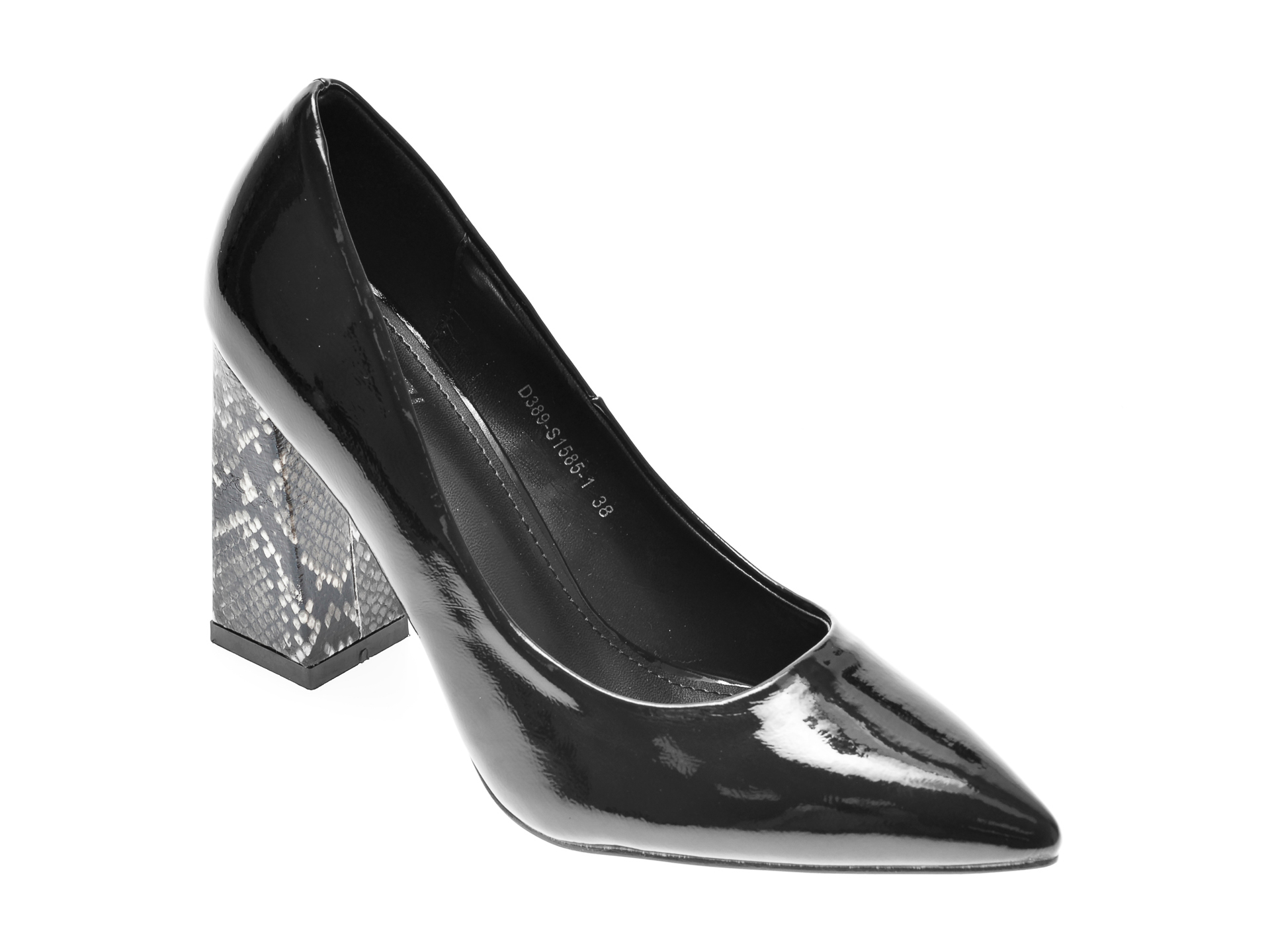 Pantofi Rio Fiore Negri, S1585, Din Piele Ecologica