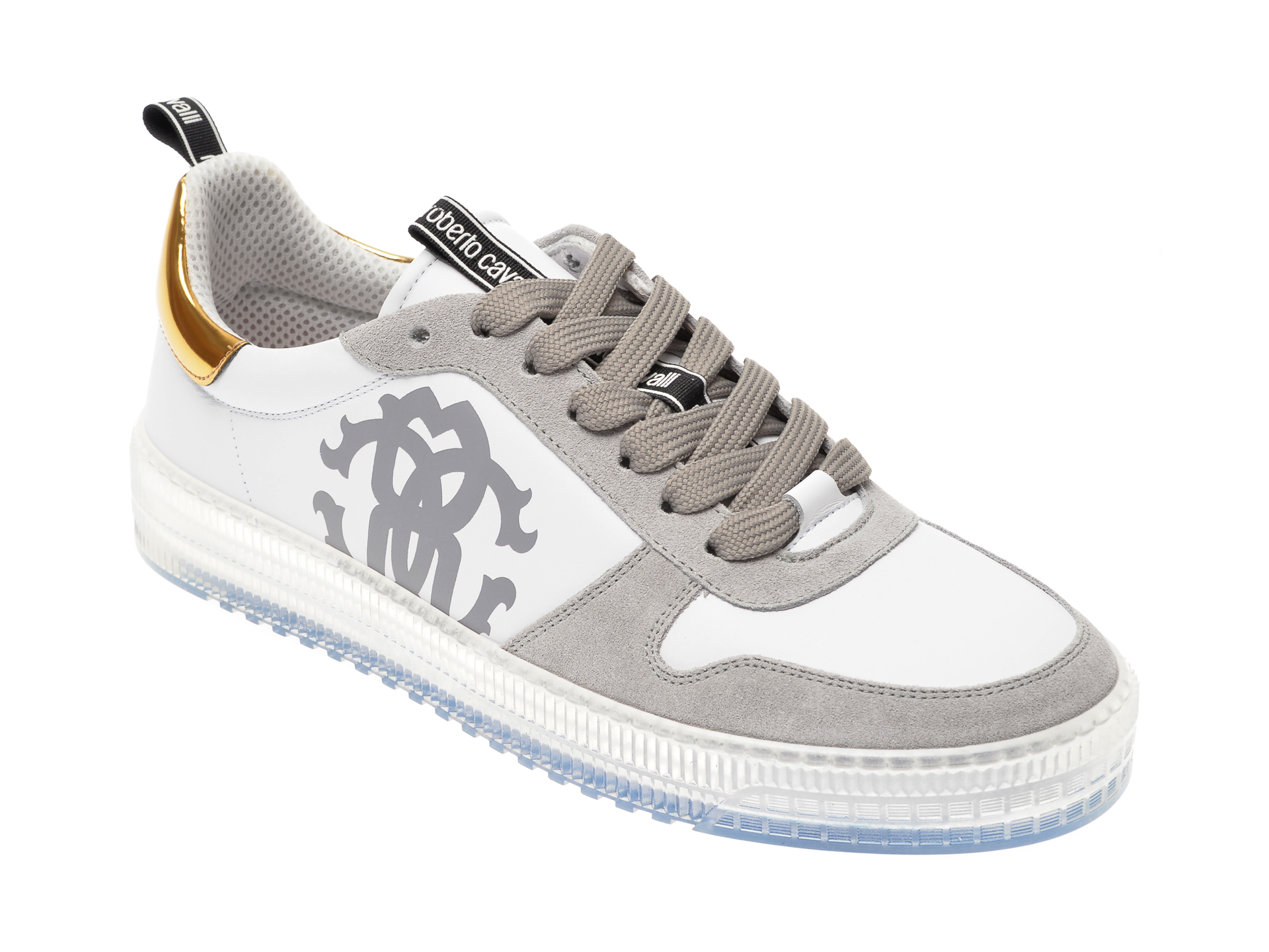 Pantofi ROBERTO CAVALLI gri, 1088RZ, din piele naturala