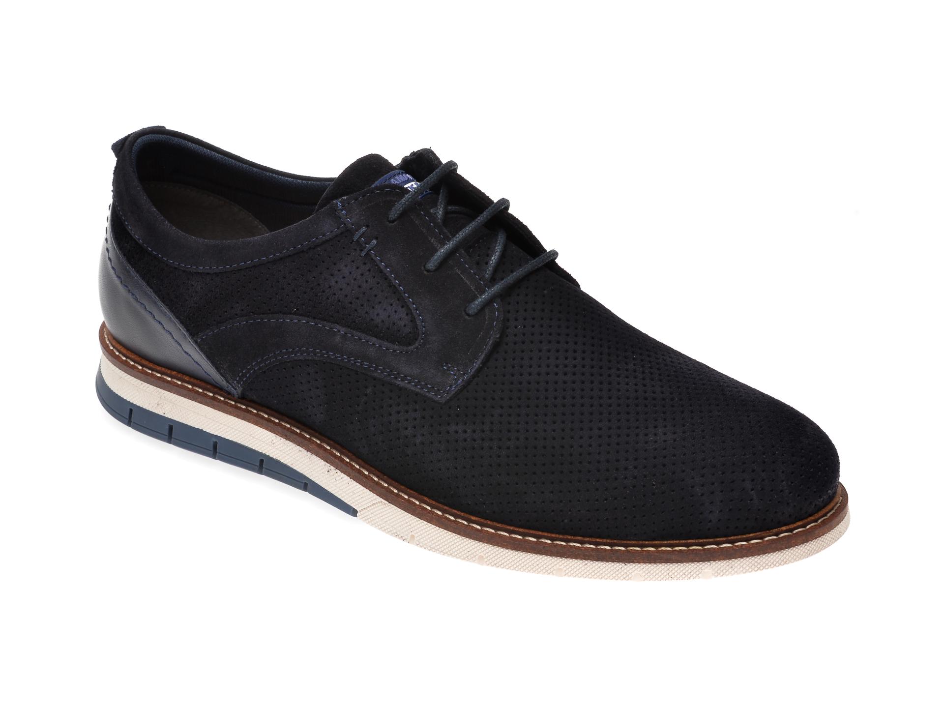 Pantofi SALAMANDER bleumarin, 56501, din piele intoarsa imagine