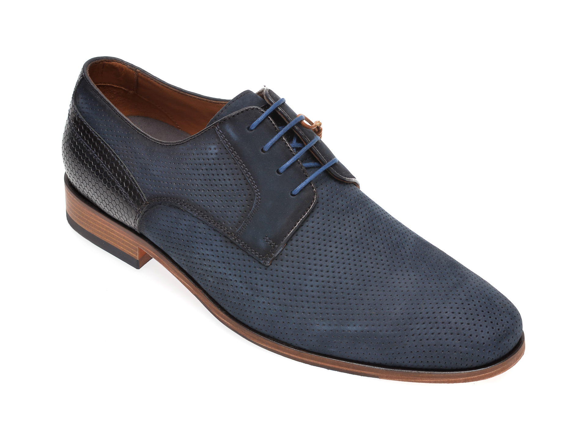 Pantofi SALAMANDER bleumarin, 57417, din piele intoarsa imagine