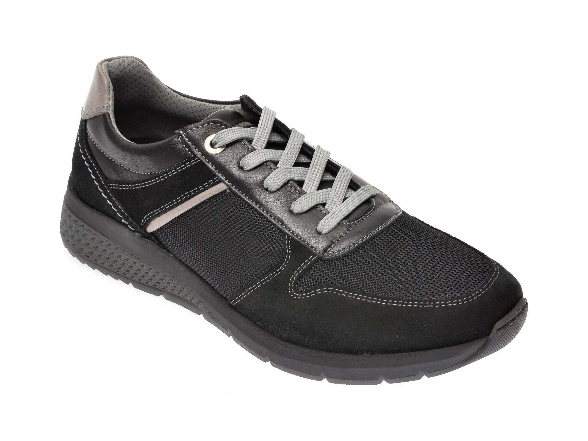 Pantofi SALAMANDER negri, 54804, din material textil imagine