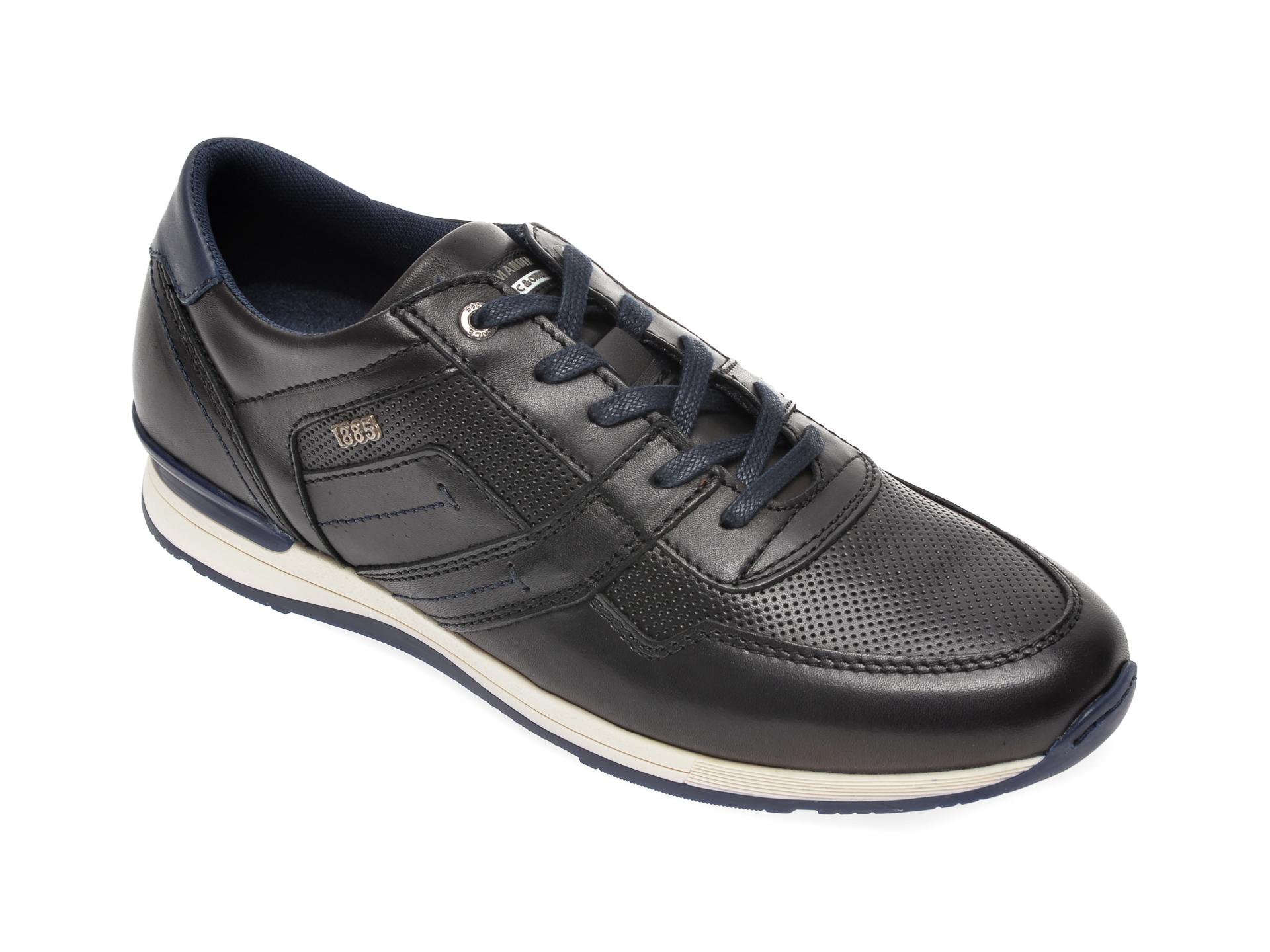 Pantofi SALAMANDER negri, 56201, din piele naturala imagine