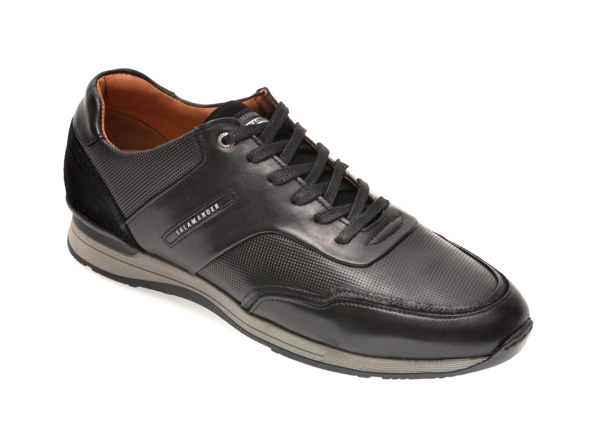 Pantofi SALAMANDER negri, 56208, din piele naturala imagine