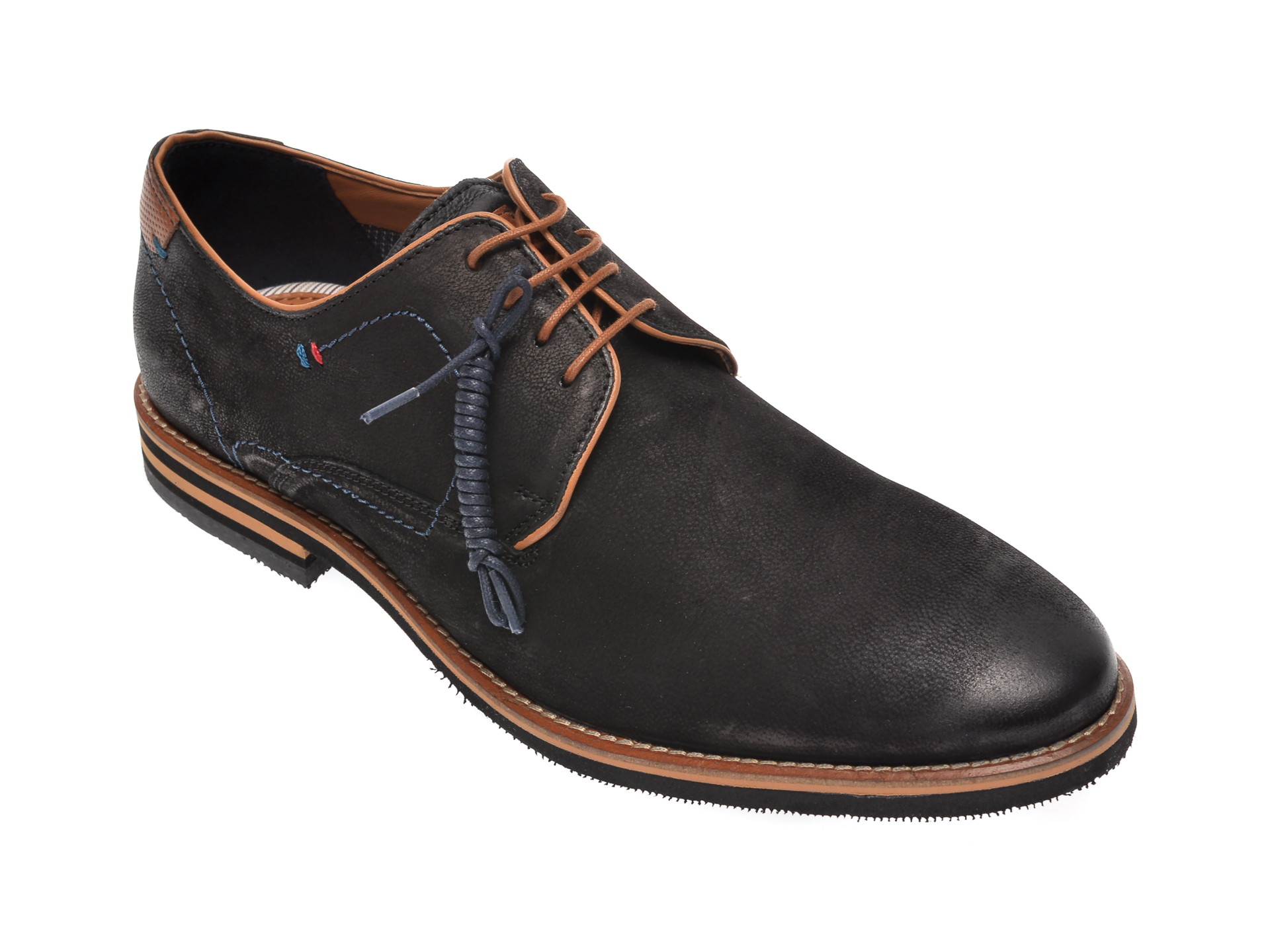 Pantofi SALAMANDER negri, 57326, din nabuc imagine