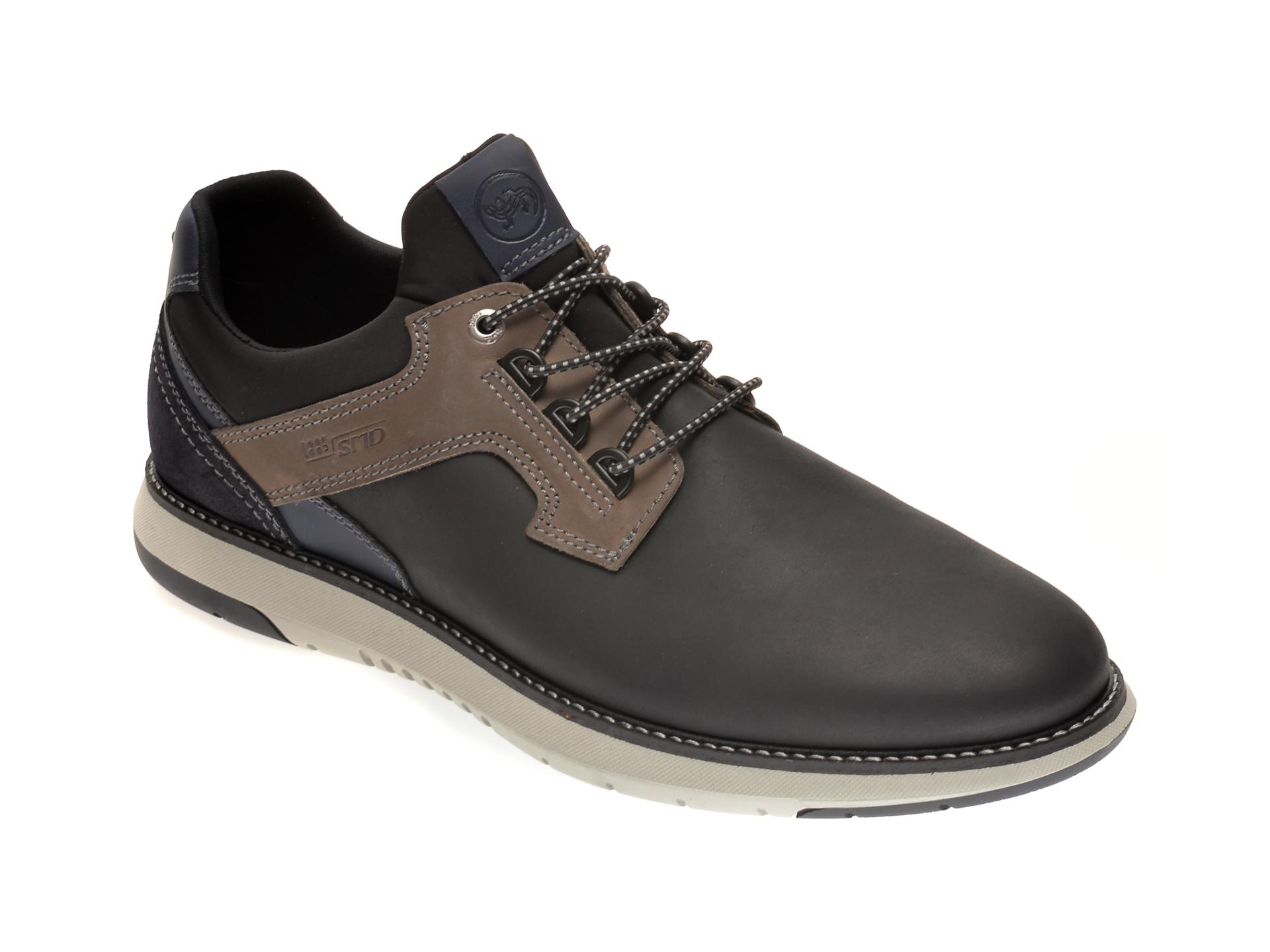 Pantofi SALAMANDER negri, 60001, din piele naturala imagine