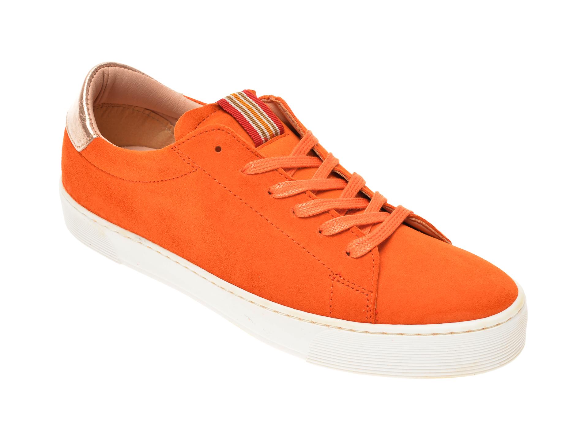 Pantofi SALAMANDER portocalii, 55301, din piele intoarsa imagine