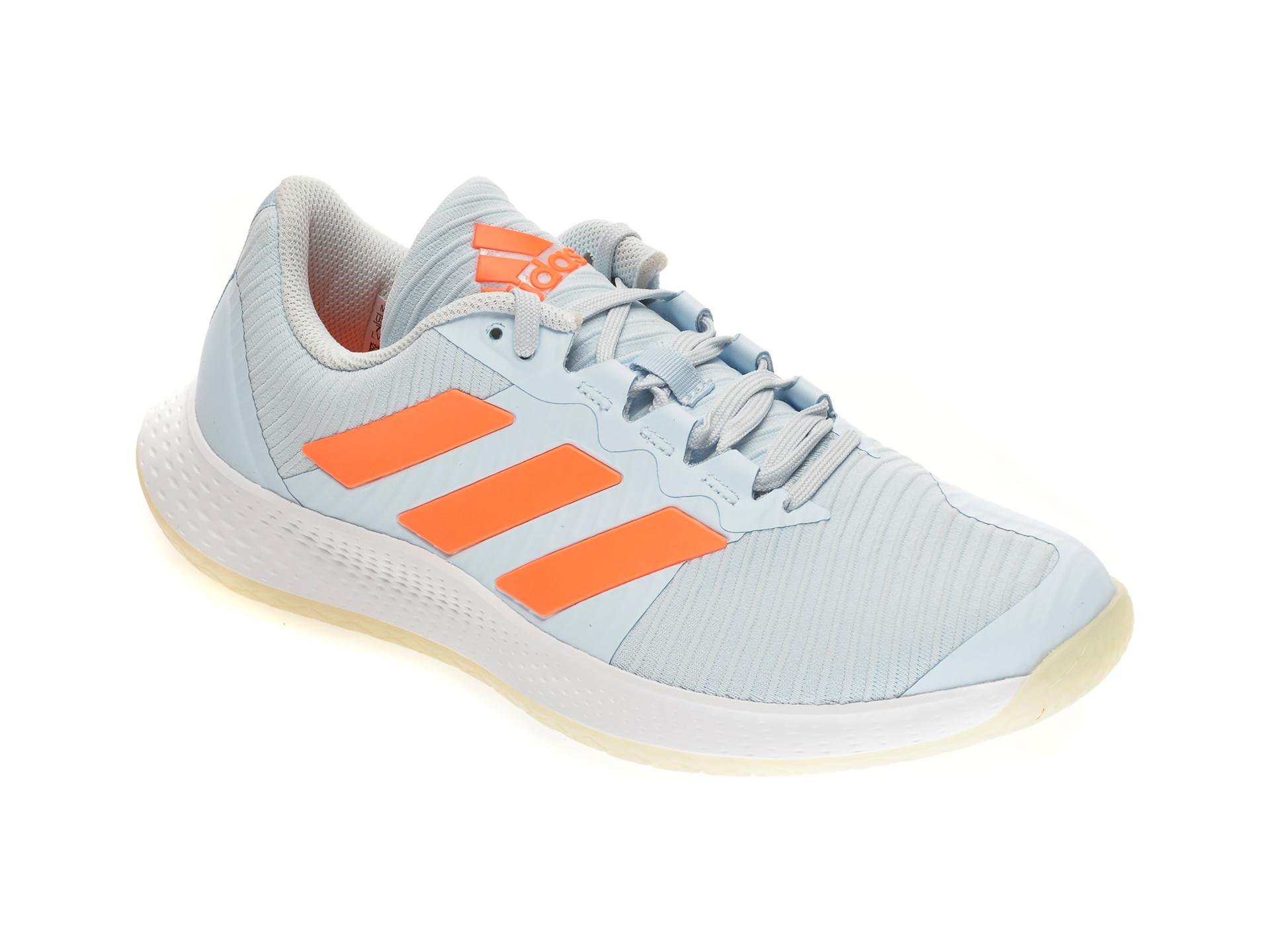 Pantofi sport ADIDAS albastri, FORCEBOUNCE W, din piele ecologica si material textil