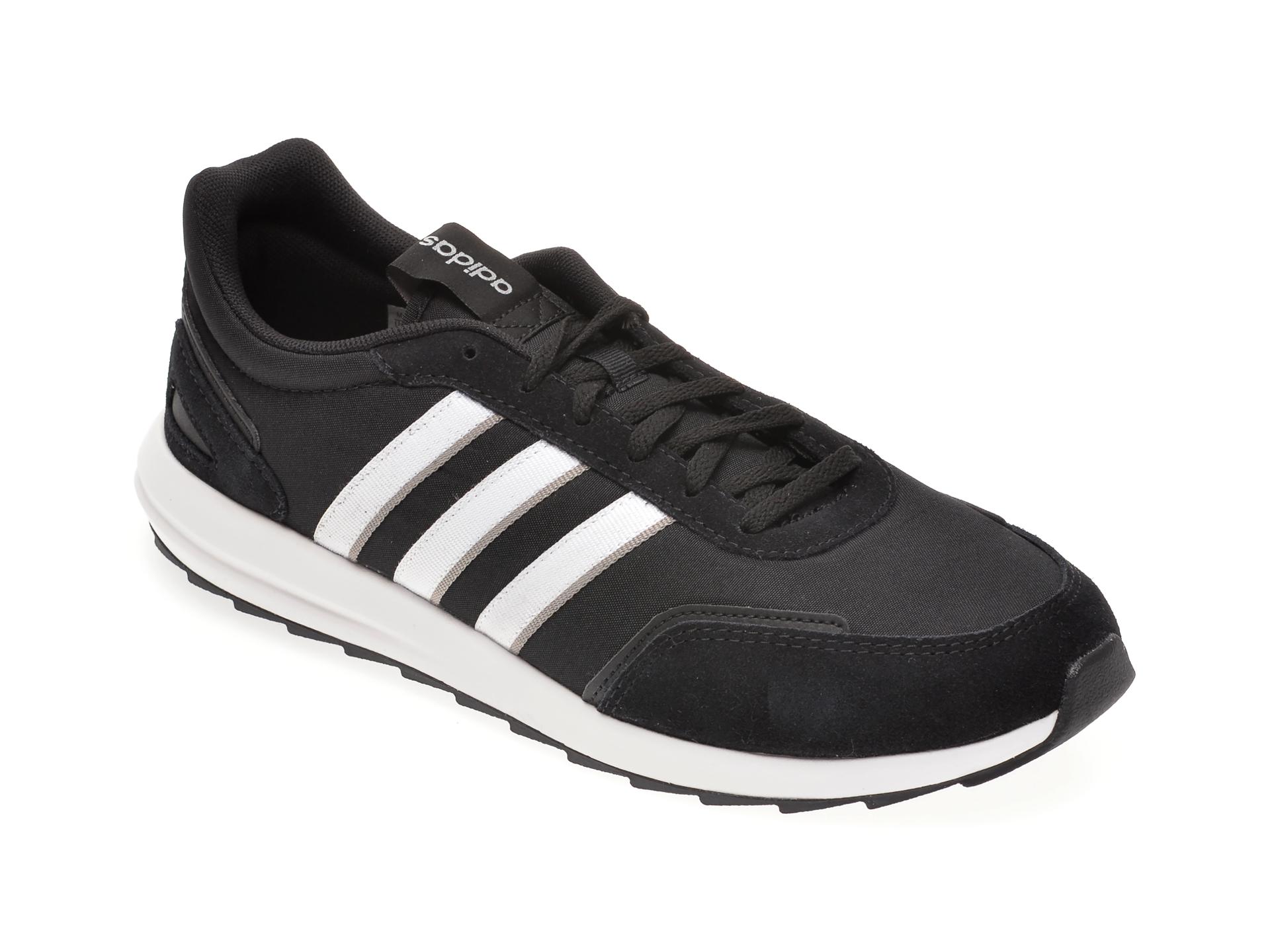 Pantofi sport ADIDAS negri, RETRORUNNER, din material textil imagine