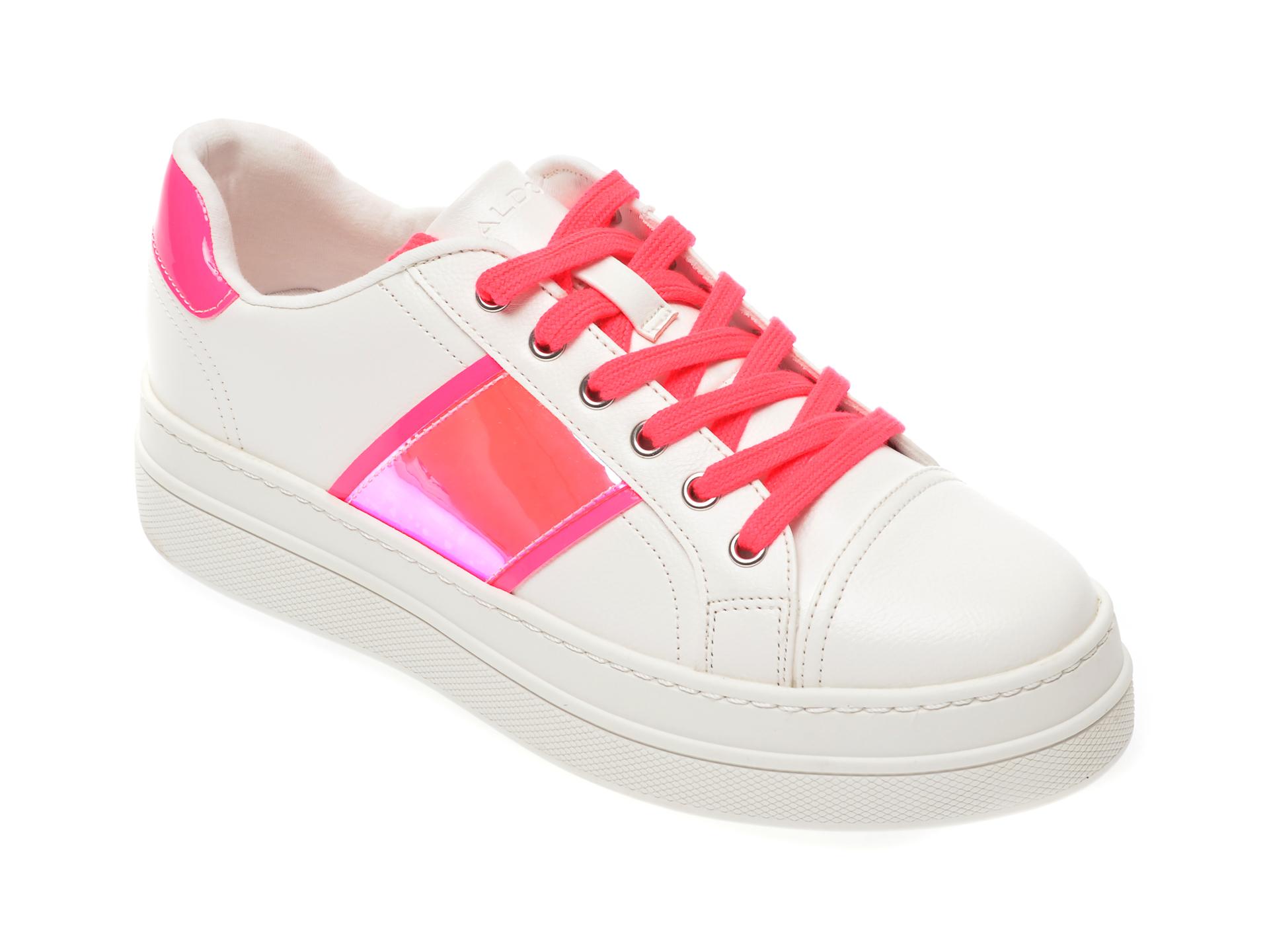 Pantofi sport ALDO albi, Starburst670, din piele ecologica imagine