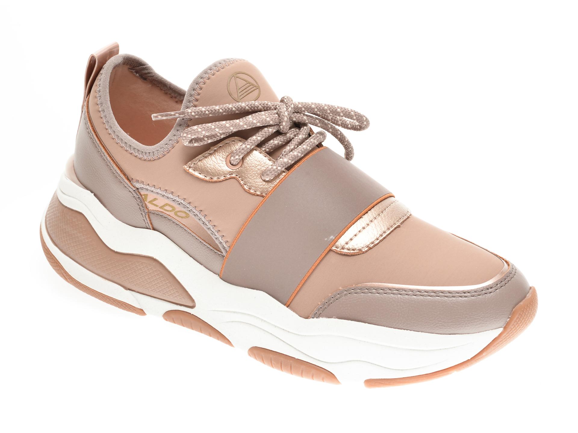 Pantofi sport ALDO nude, Rev270, din material textil si piele ecologica imagine