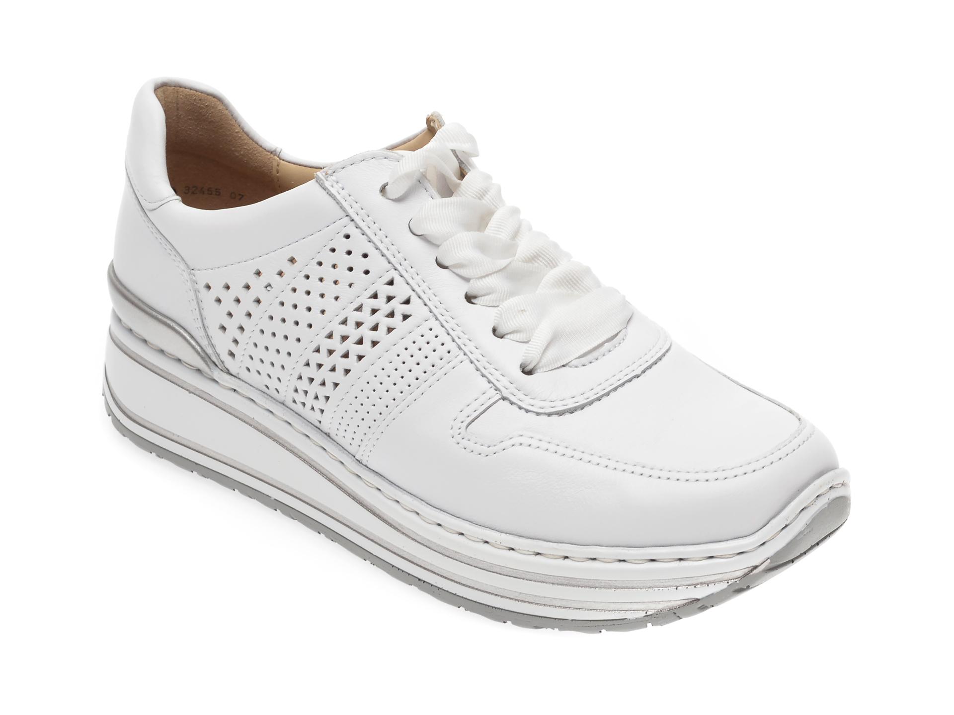Pantofi sport ARA albi, 32465, din piele naturala imagine