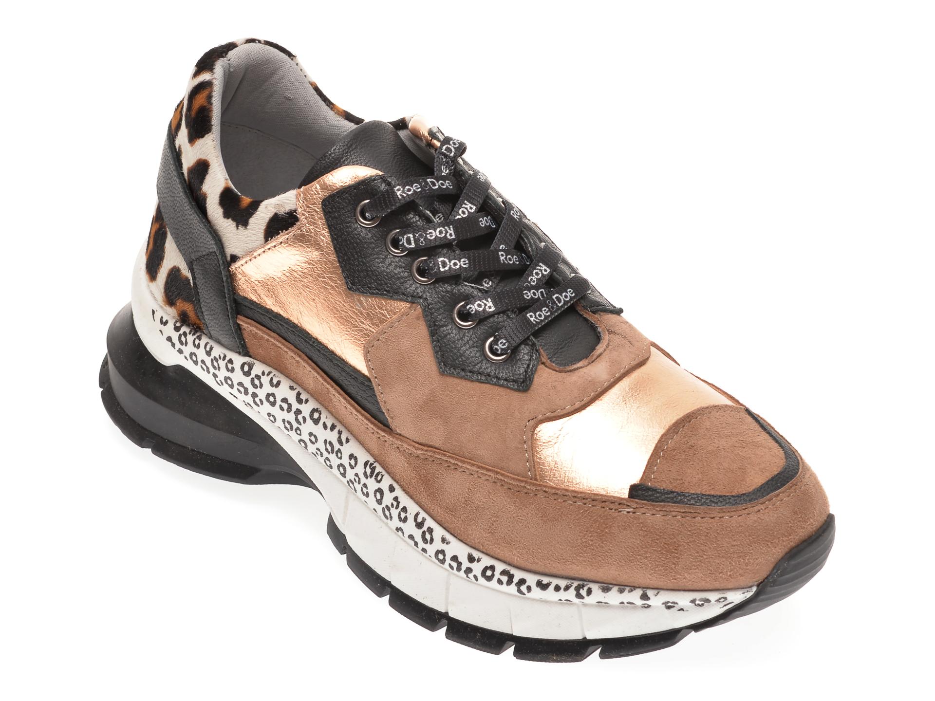 Pantofi sport BABOOS maro, 1202, din piele naturala imagine