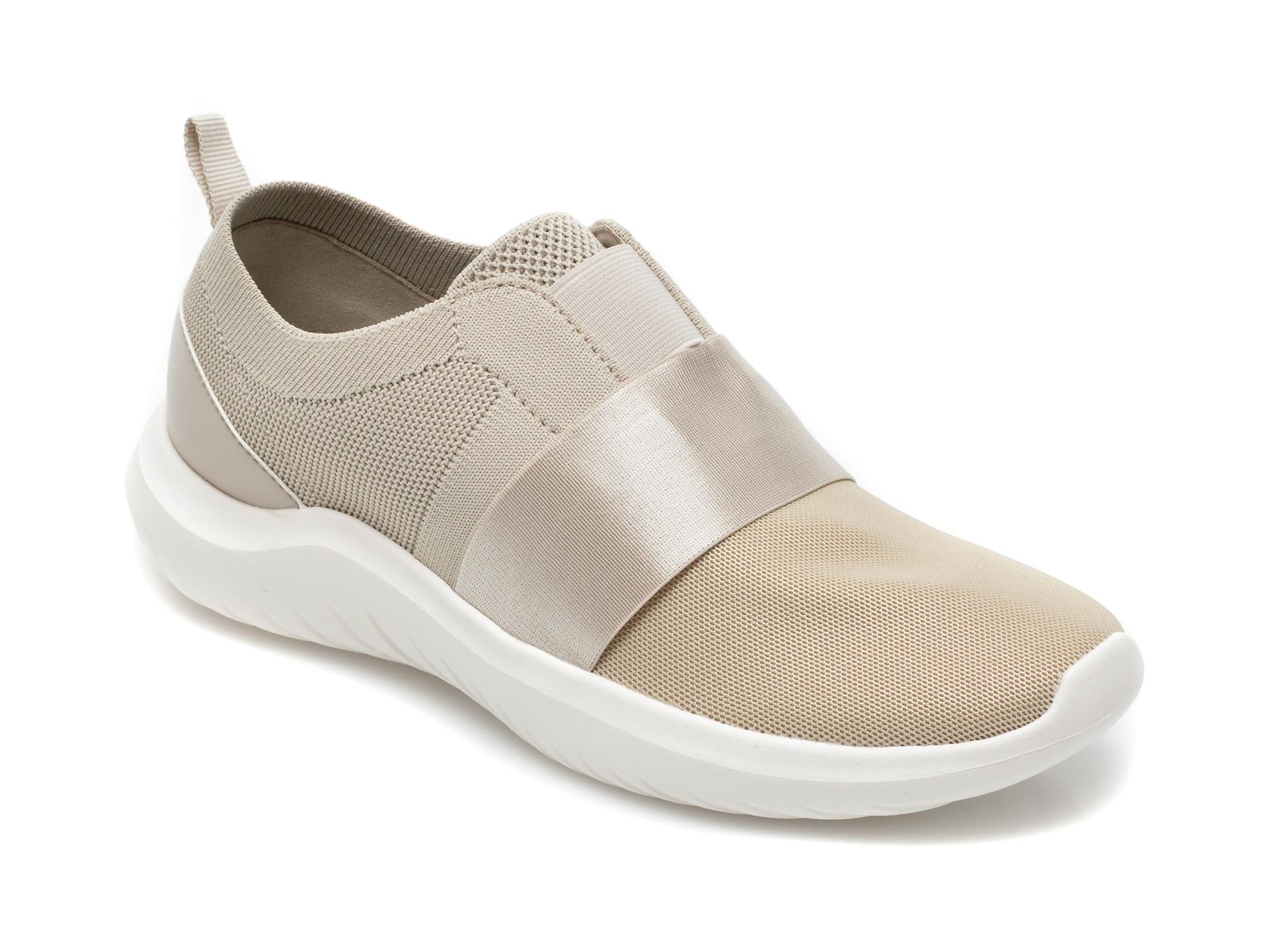 Pantofi sport CLARKS bej, Nova Lumis, din material textil