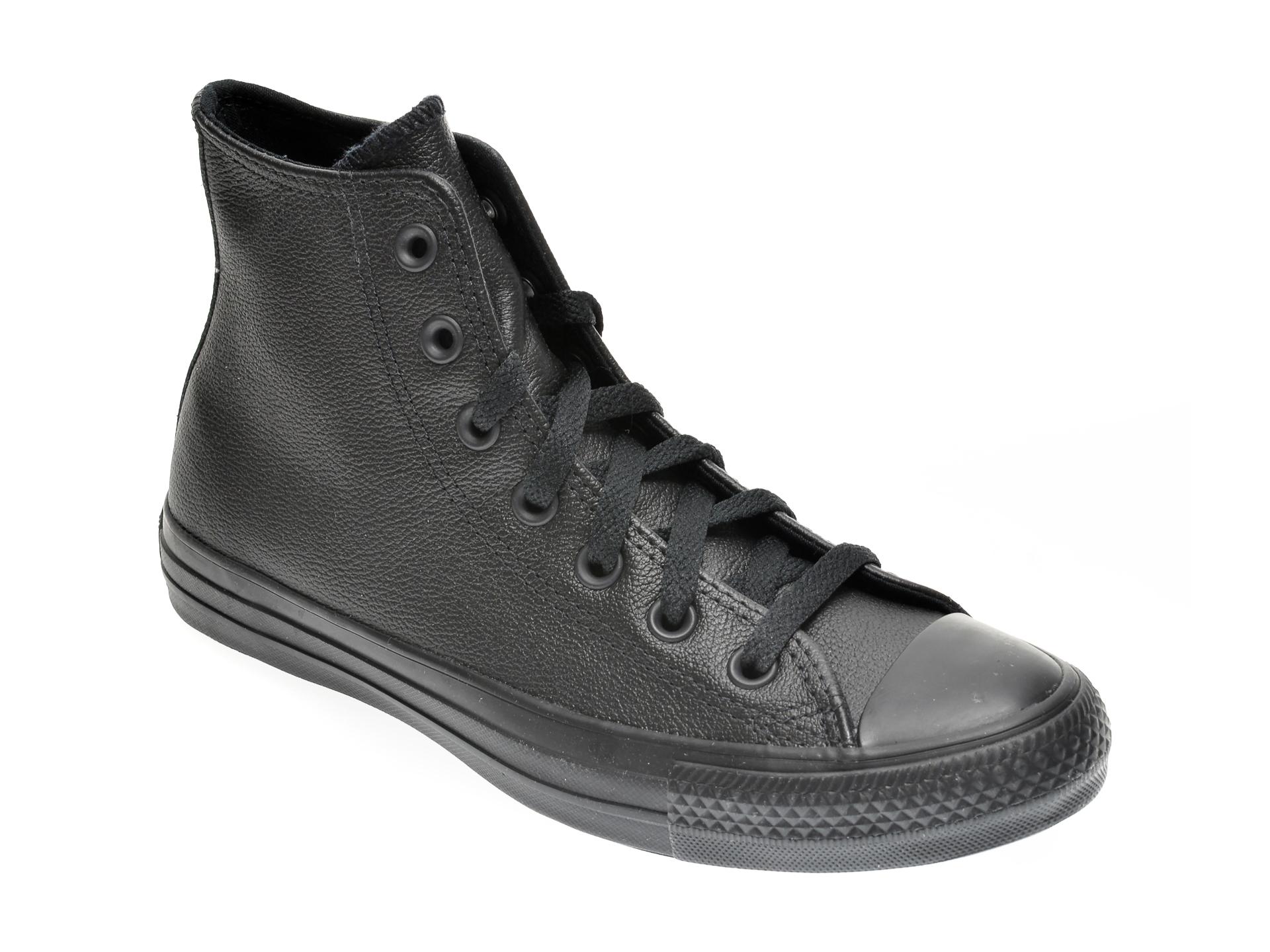Pantofi sport CONVERSE negre, 135251C, din piele naturala imagine