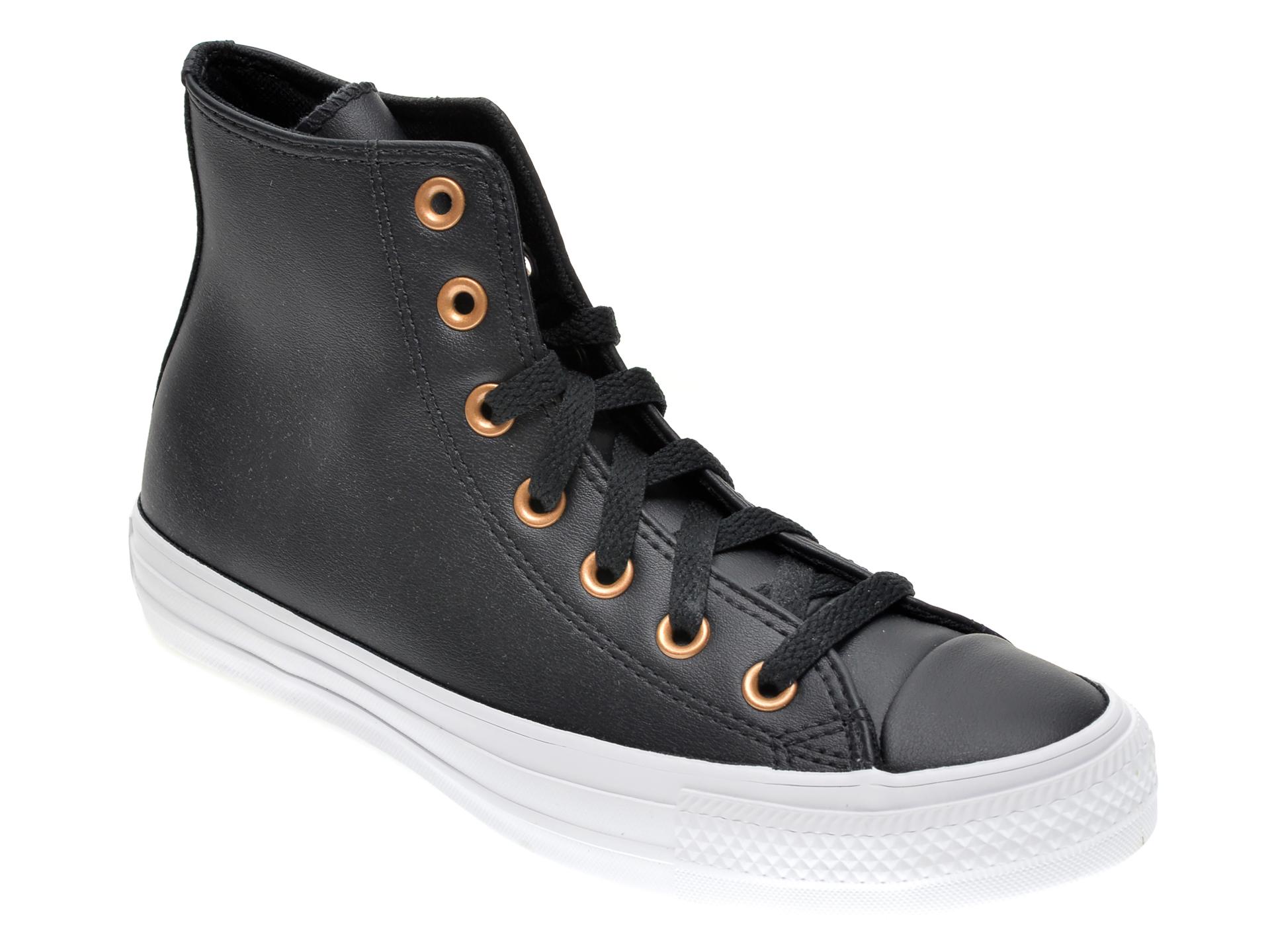 Pantofi sport CONVERSE negre, 568659C, din piele ecologica