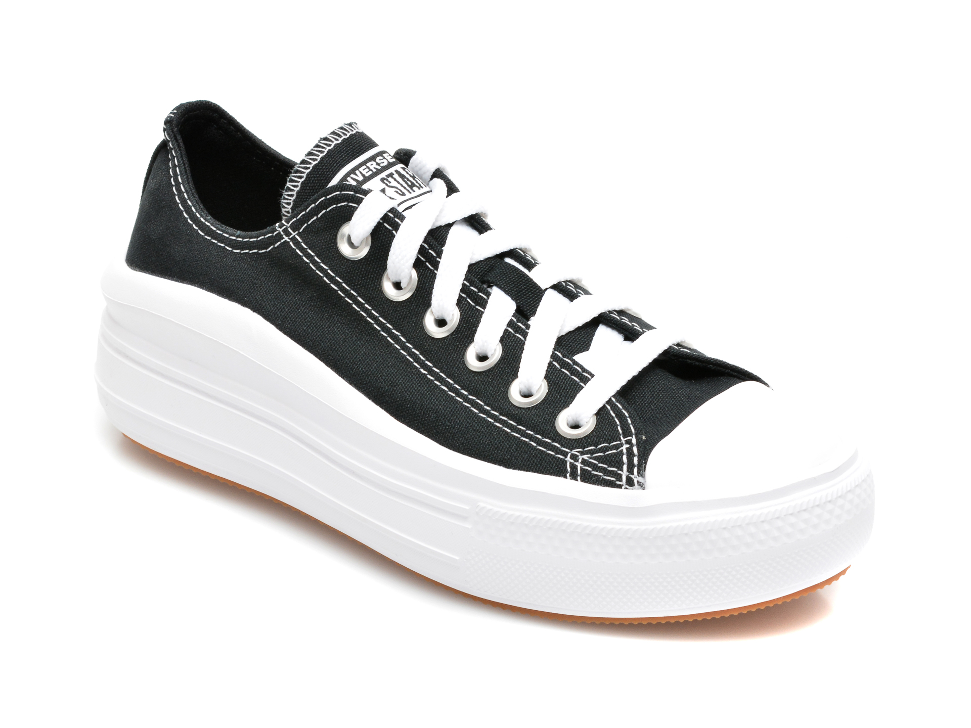 Pantofi sport CONVERSE negri, 570256C, din material textil