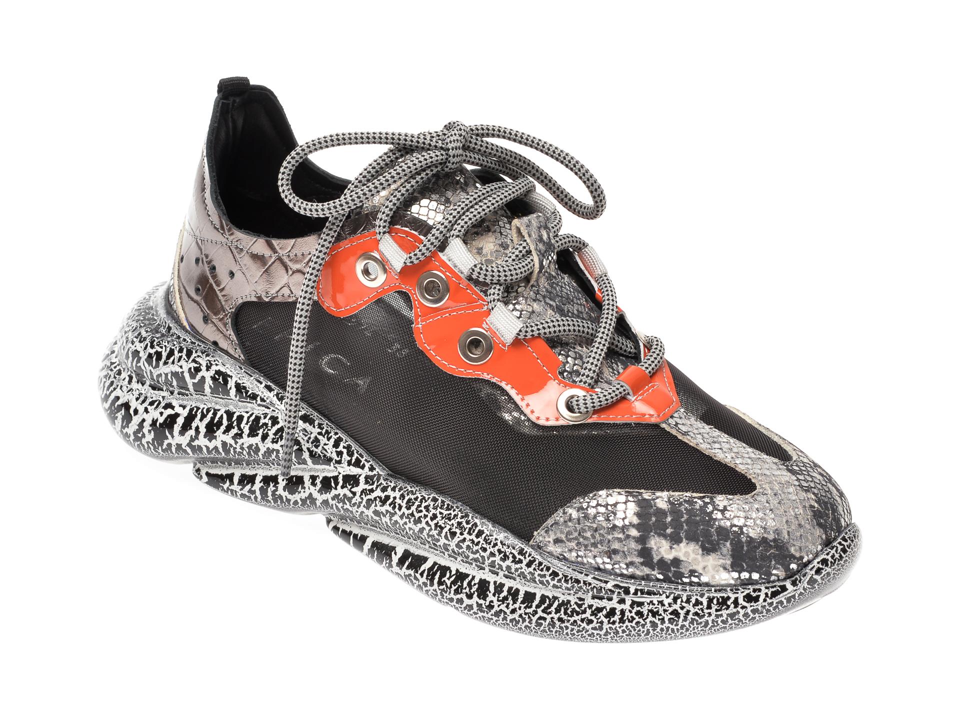 Pantofi Sport Epica Argintii, 374, Din Material Textil