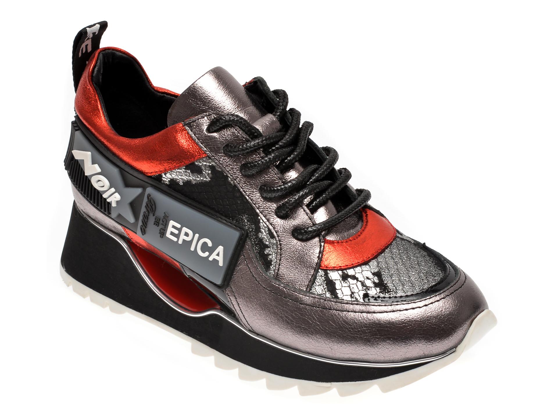 Pantofi sport EPICA multicolor, 2387PON, din piele naturala