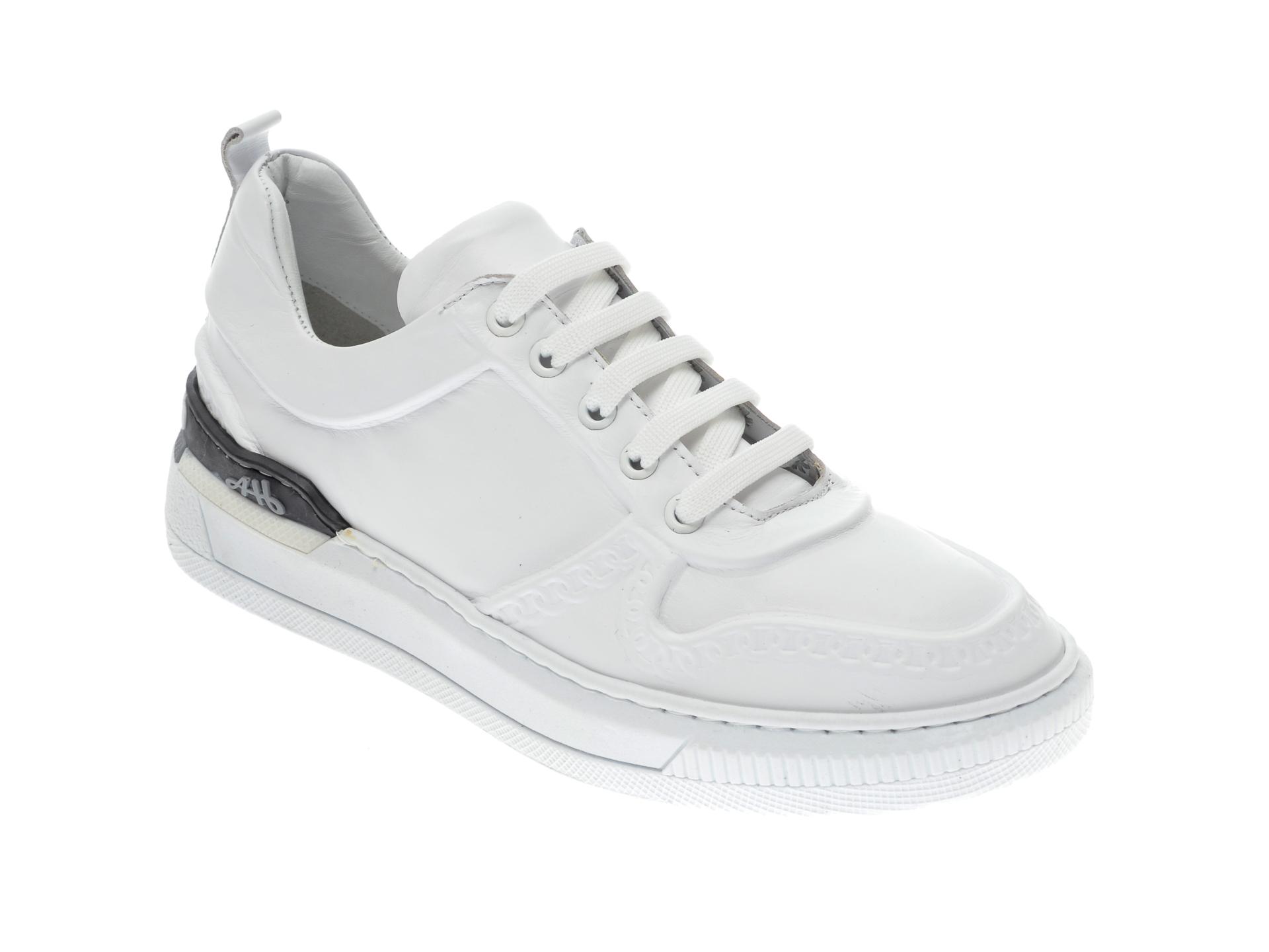 Pantofi Sport Flavia Passini Albi, 054netr, Din Piele Naturala