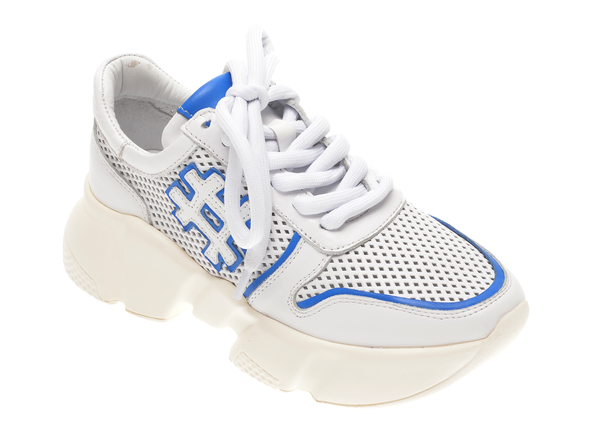 Pantofi Sport Flavia Passini Albi, 135p49, Din Piele Naturala