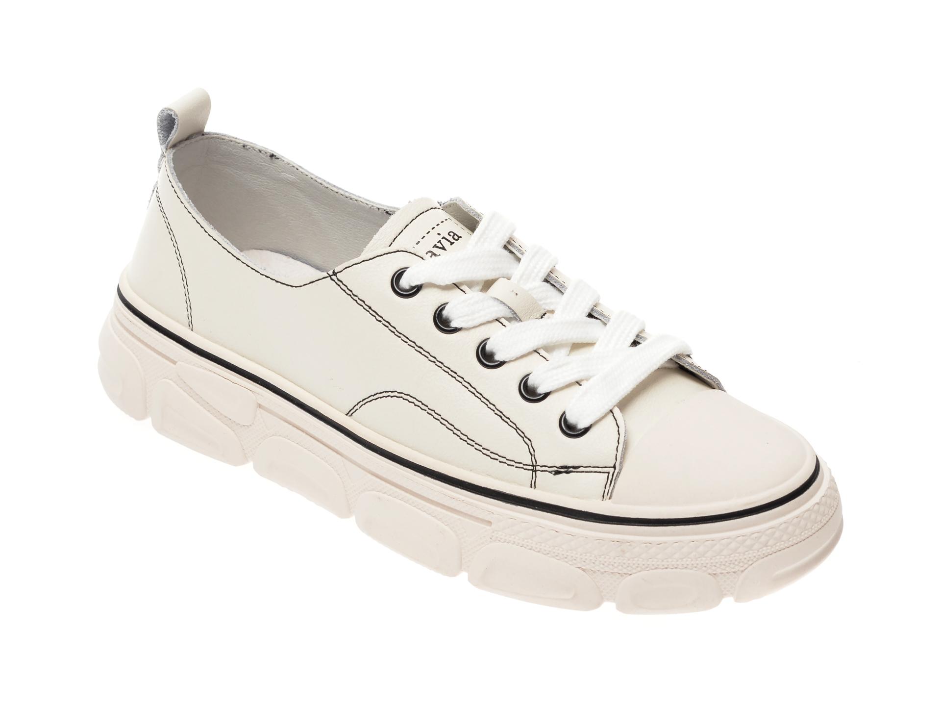 Pantofi sport FLAVIA PASSINI albi, YC8002T, din piele naturala imagine