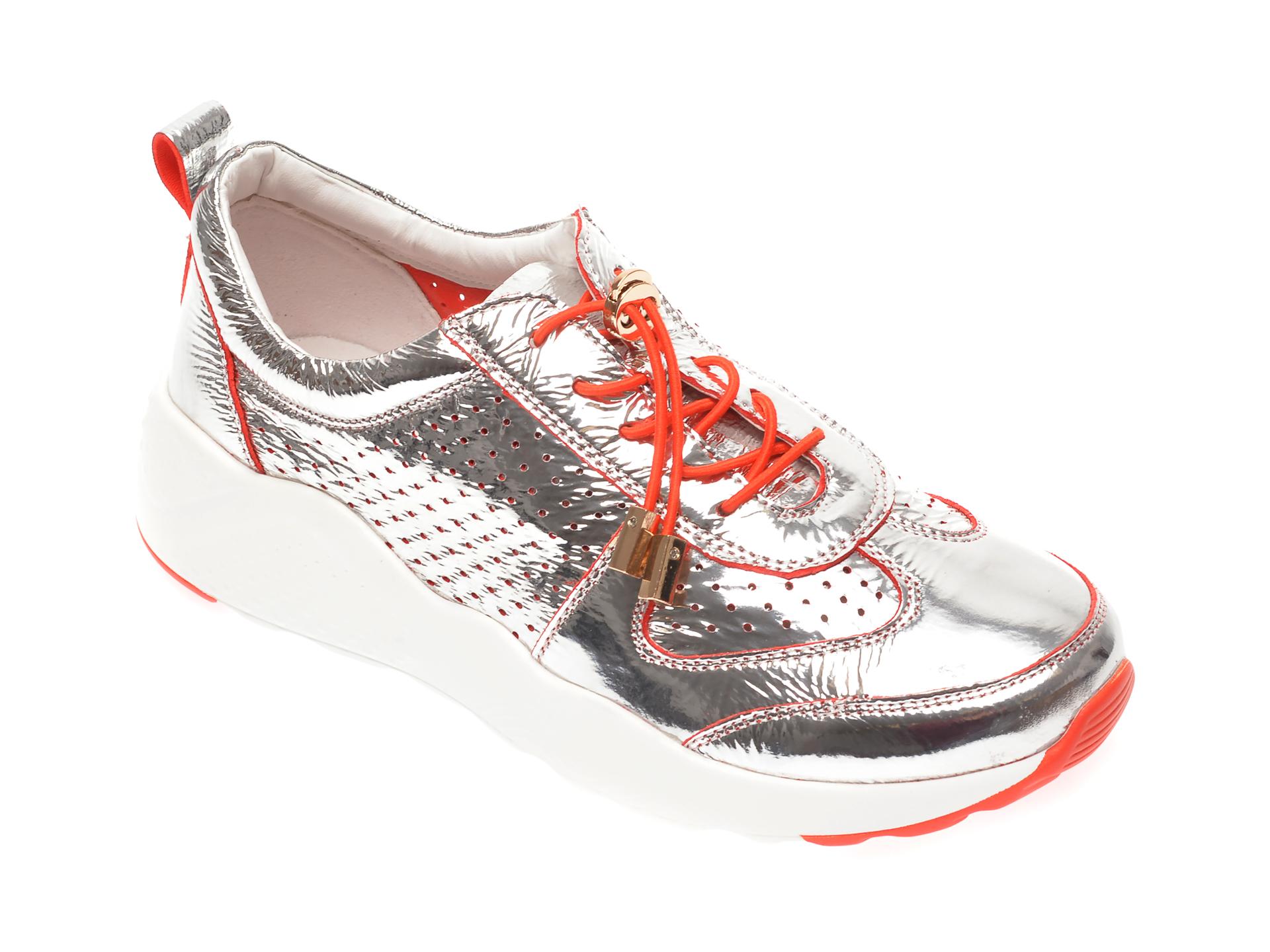 Pantofi sport FLAVIA PASSINI argintii, JK716L9, din piele naturala