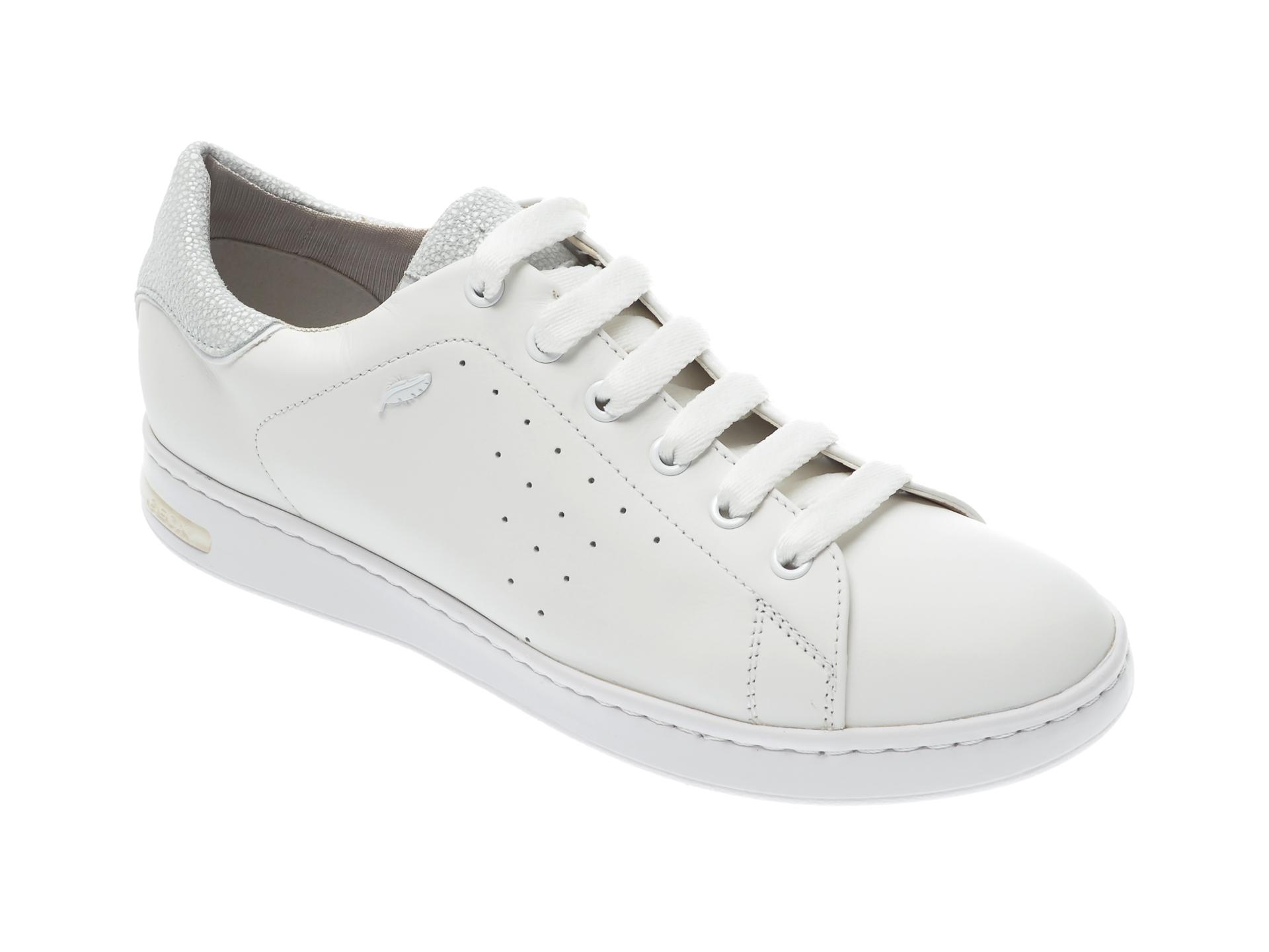 Pantofi sport GEOX albi, D621BA, din piele naturala