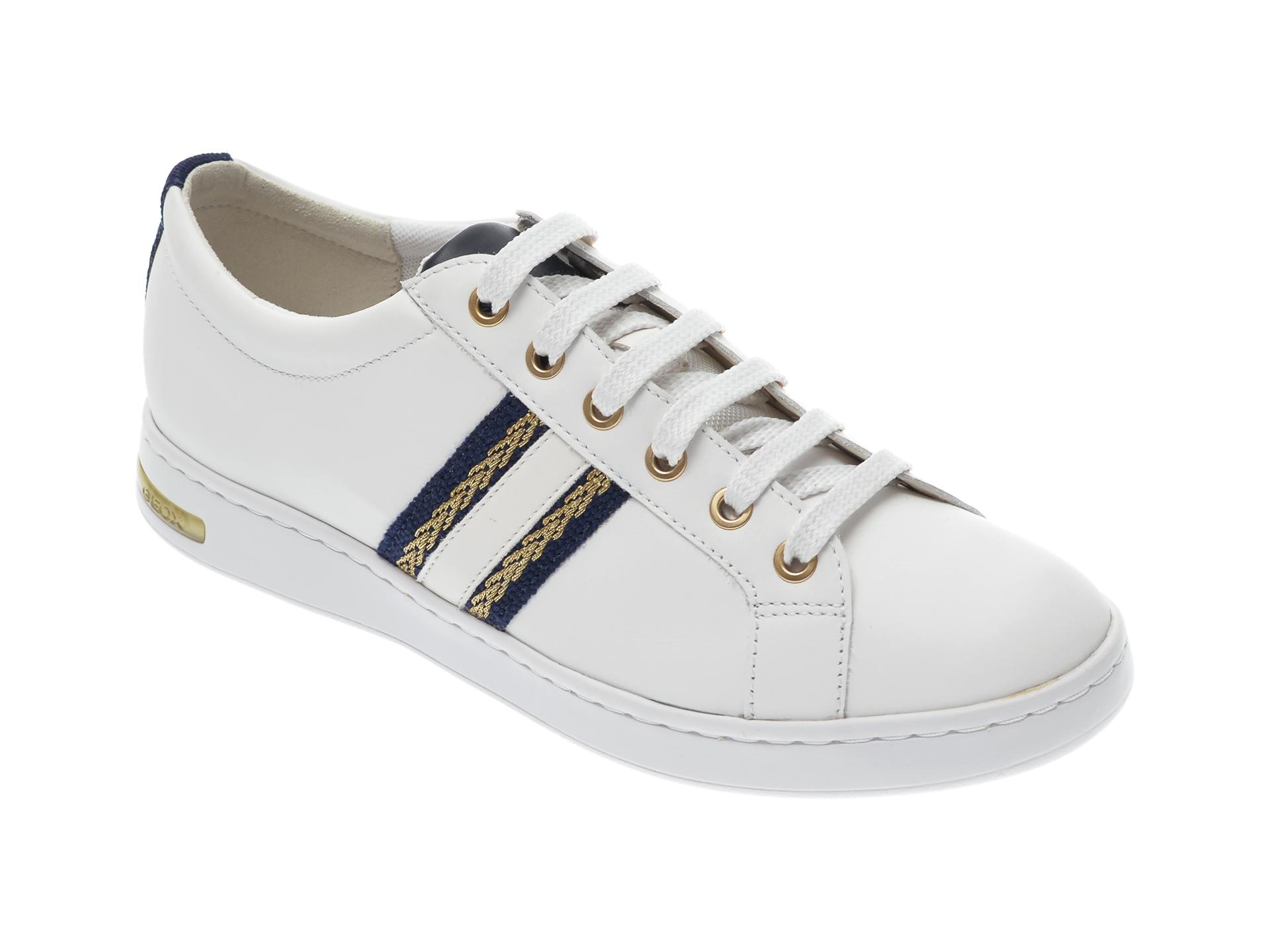 Pantofi sport GEOX albi, D921BA, din piele naturala