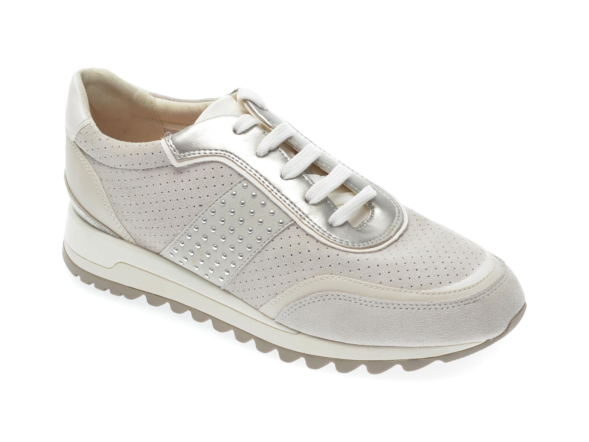 Pantofi sport GEOX gri, D94AQA, din piele intoarsa