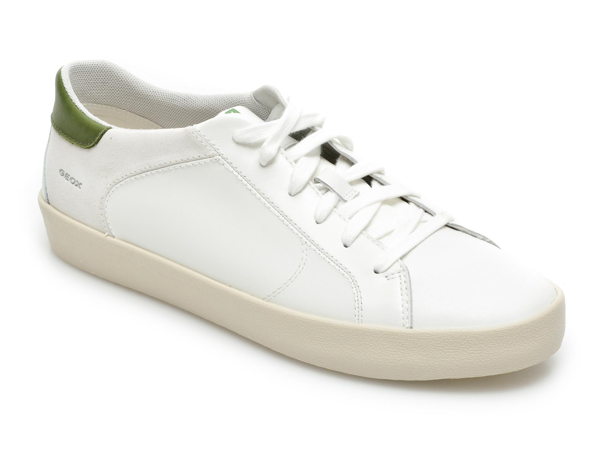 Pantofi sport GEOX albi, U156HA, din piele naturala