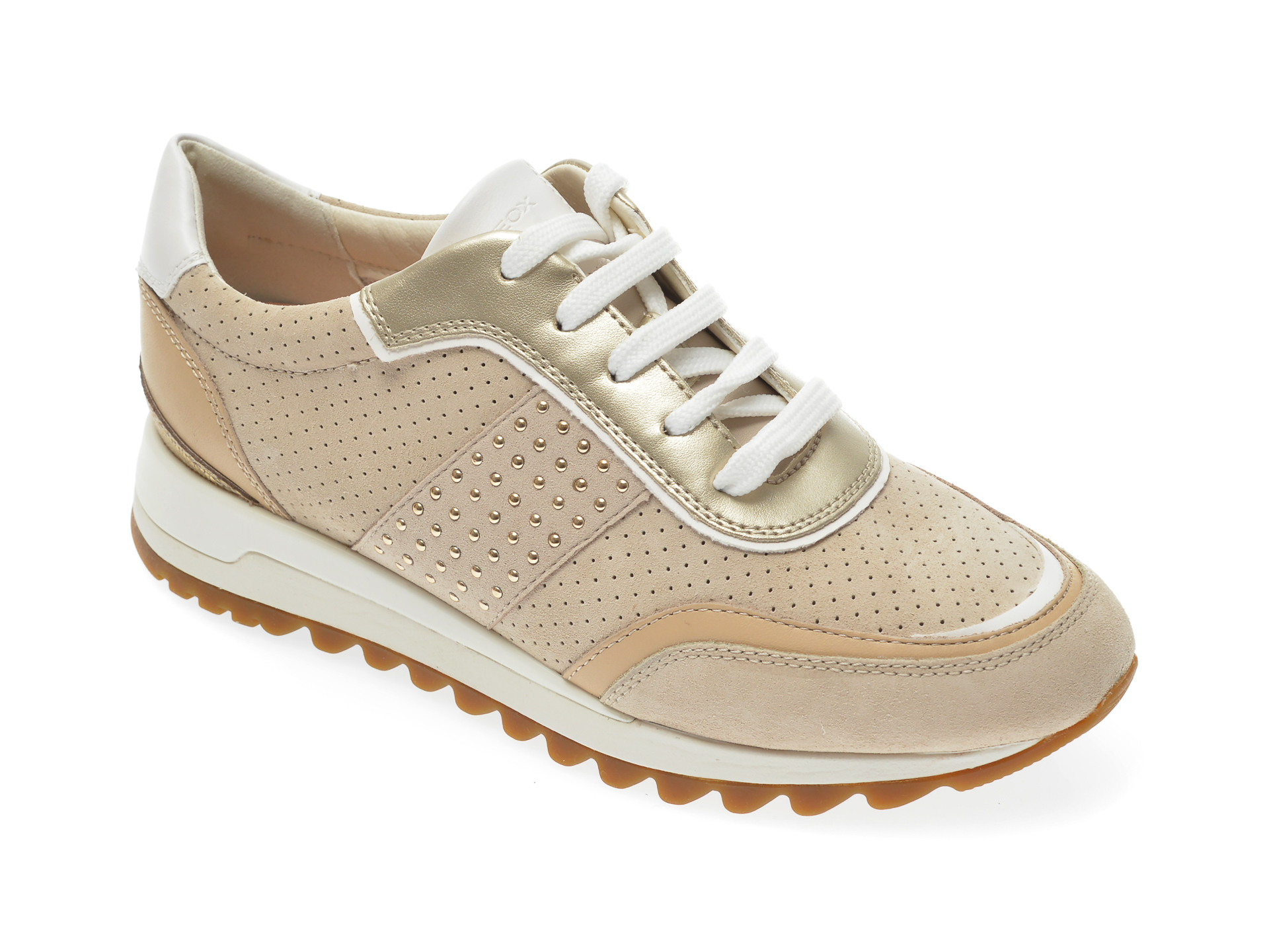 Pantofi sport GEOX bej, D94AQA, din piele intoarsa