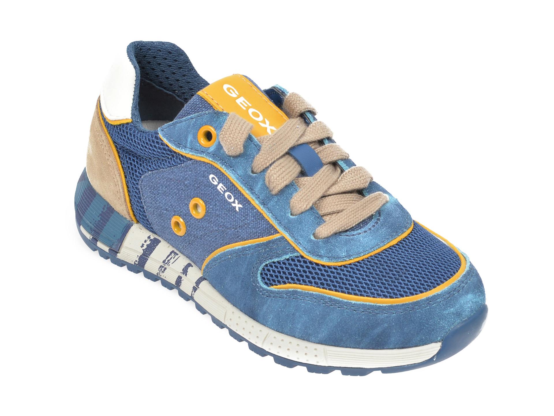 Pantofi sport GEOX albastri, U029AA, din piele naturala