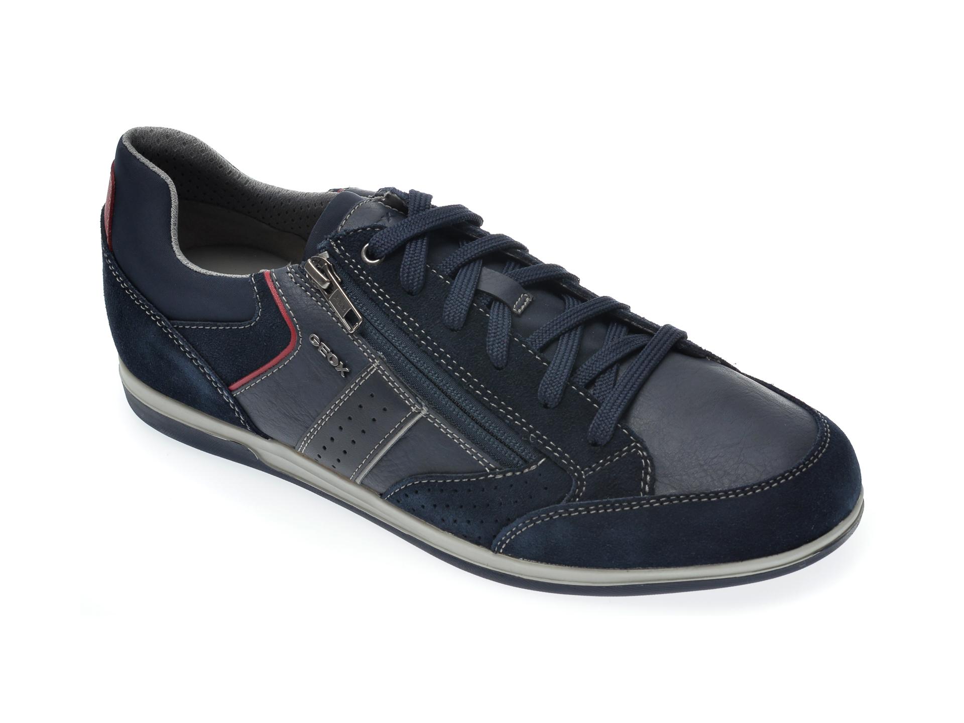Pantofi sport GEOX bleumarin, U024GA, din piele ecologica